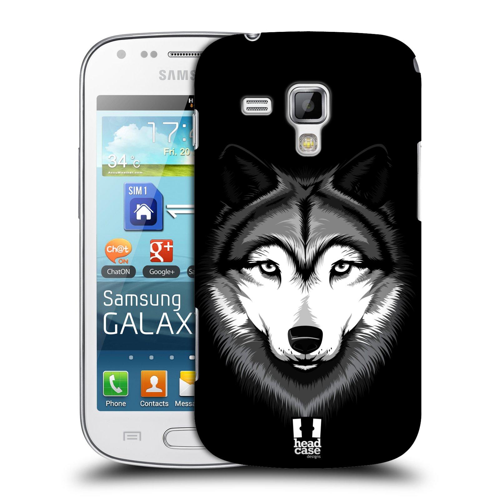 Plastové pouzdro na mobil Samsung Galaxy Trend Plus HEAD CASE ILUSTROVANÝ VLK