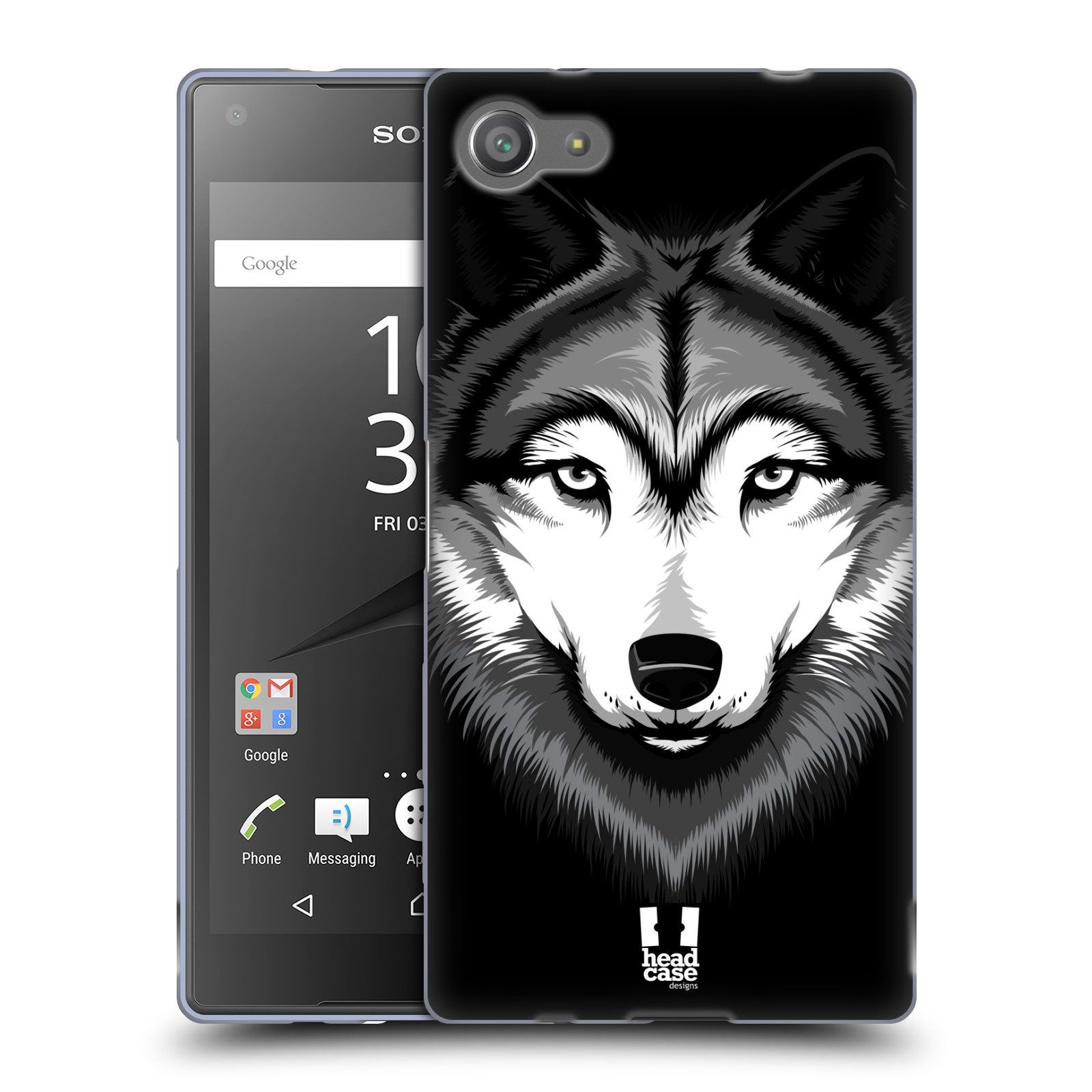 Silikonové pouzdro na mobil Sony Xperia Z5 Compact HEAD CASE ILUSTROVANÝ VLK