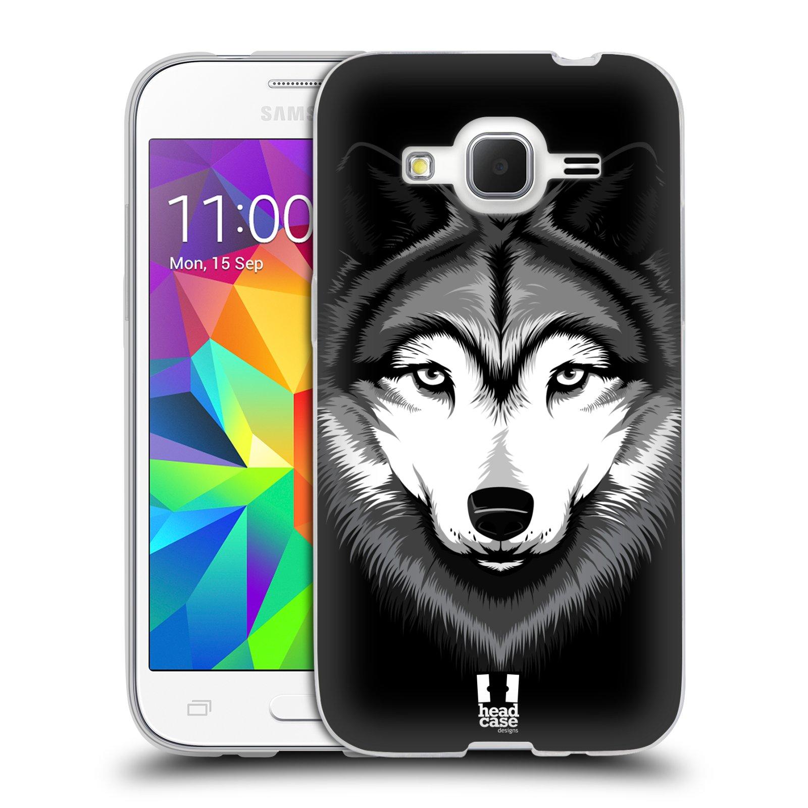 Silikonové pouzdro na mobil Samsung Galaxy Core Prime LTE HEAD CASE ILUSTROVANÝ VLK
