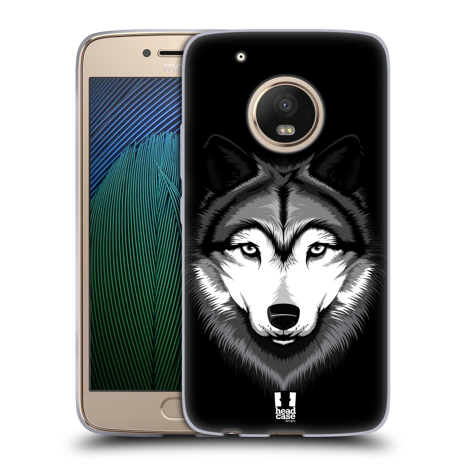 Silikonové pouzdro na mobil Lenovo Moto G5 Plus - Head Case ILUSTROVANÝ VLK