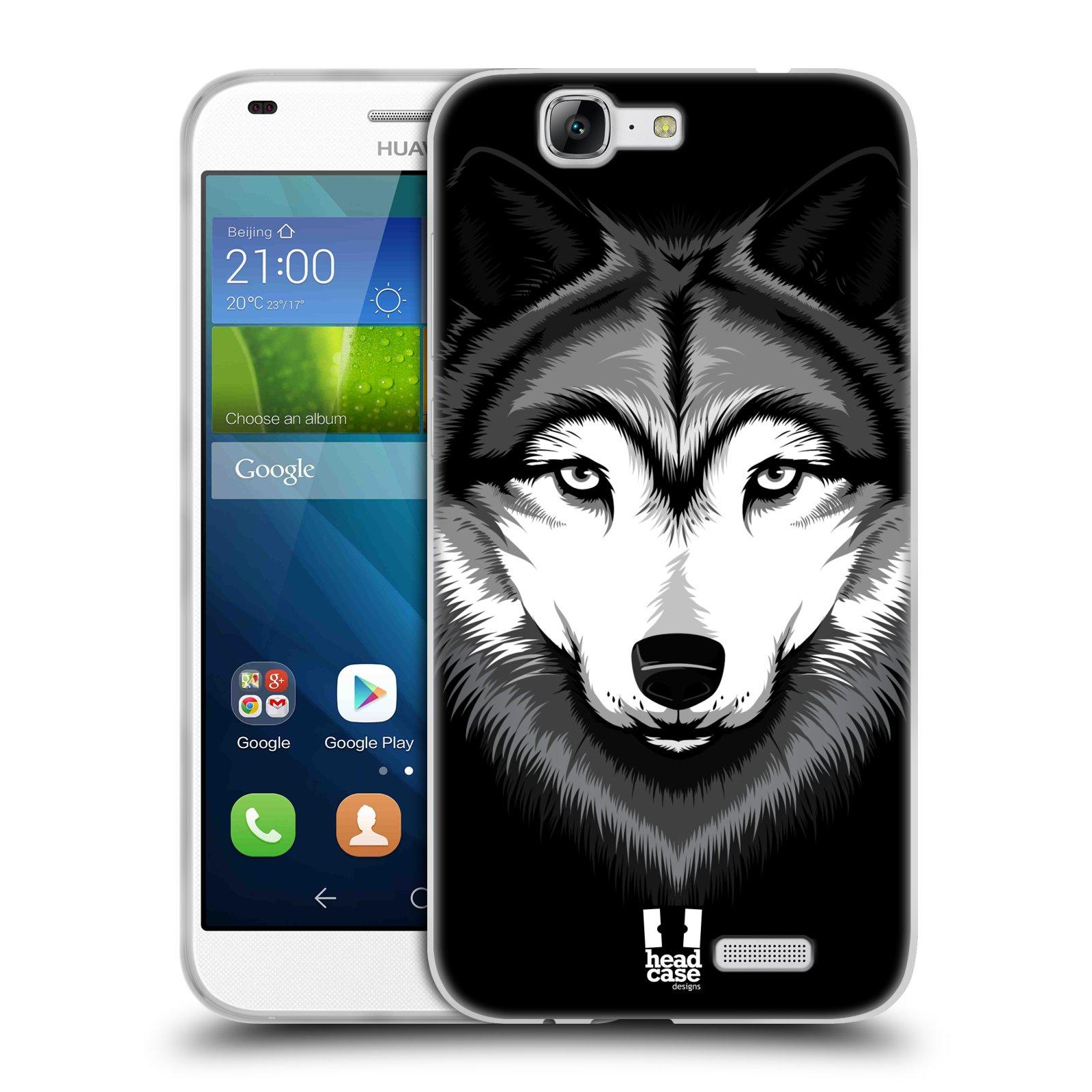 Silikonové pouzdro na mobil Huawei Ascend G7 HEAD CASE ILUSTROVANÝ VLK