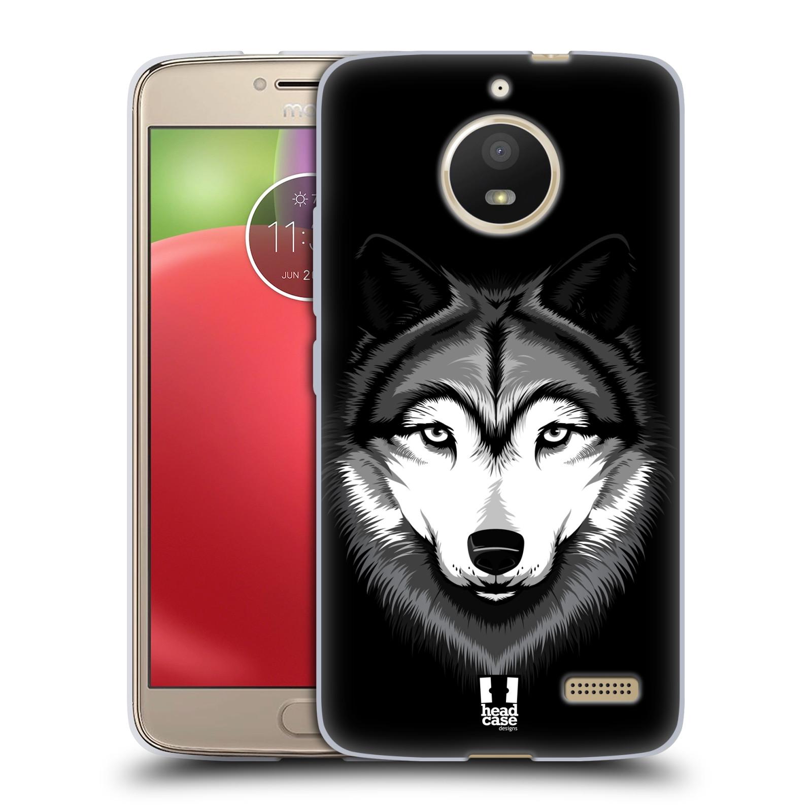 Silikonové pouzdro na mobil Lenovo Moto E4 - Head Case - ILUSTROVANÝ VLK