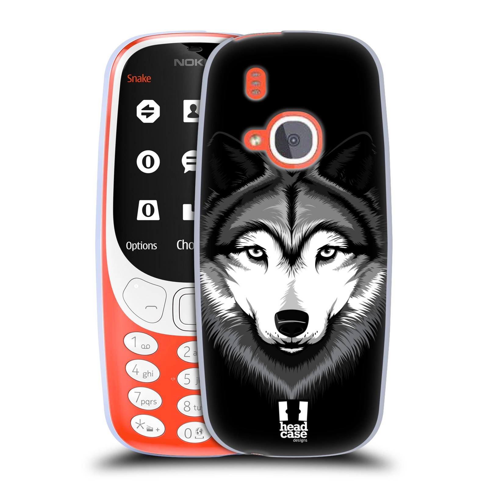 Silikonové pouzdro na mobil Nokia 3310 - Head Case - ILUSTROVANÝ VLK (Silikonový kryt či obal na mobilní telefon Nokia 3310 (2017) s motivem ILUSTROVANÝ VLK)
