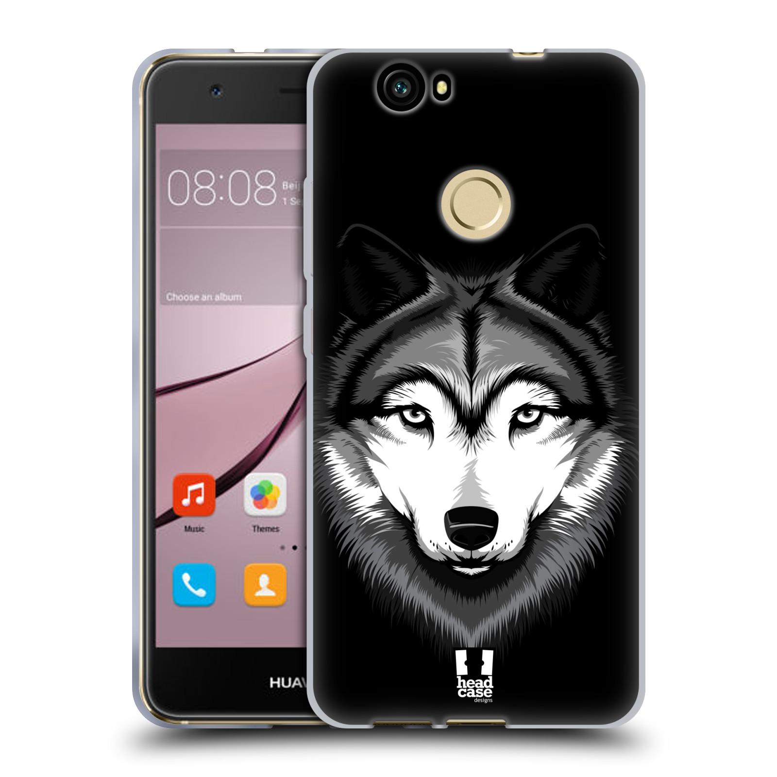 Silikonové pouzdro na mobil Huawei Nova - Head Case - ILUSTROVANÝ VLK
