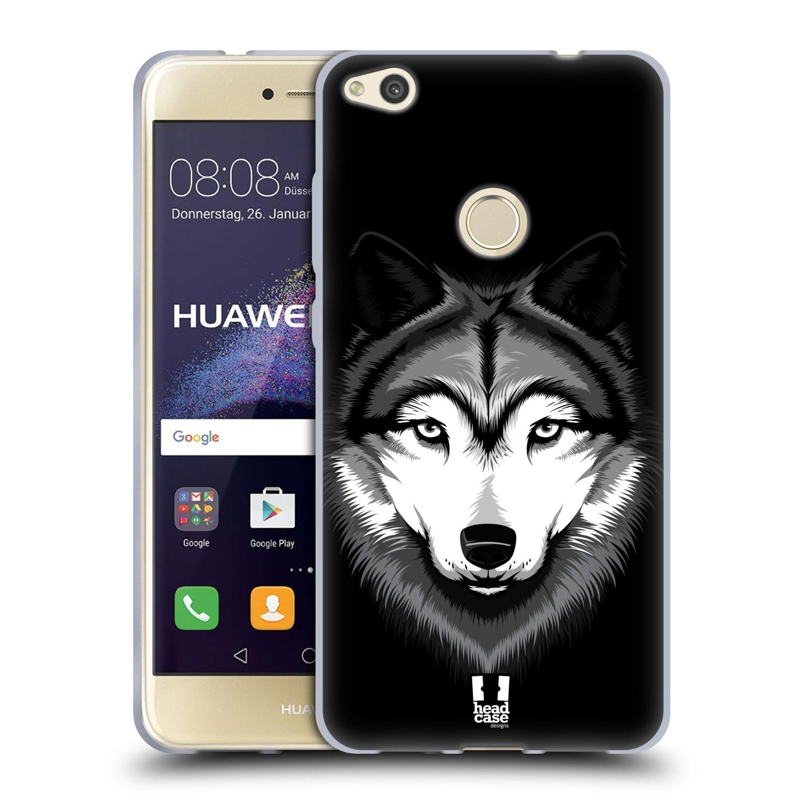 Silikonové pouzdro na mobil Honor 8 Lite - Head Case - ILUSTROVANÝ VLK (Silikonový kryt či obal na mobilní telefon Honor 8 Lite s motivem ILUSTROVANÝ VLK)