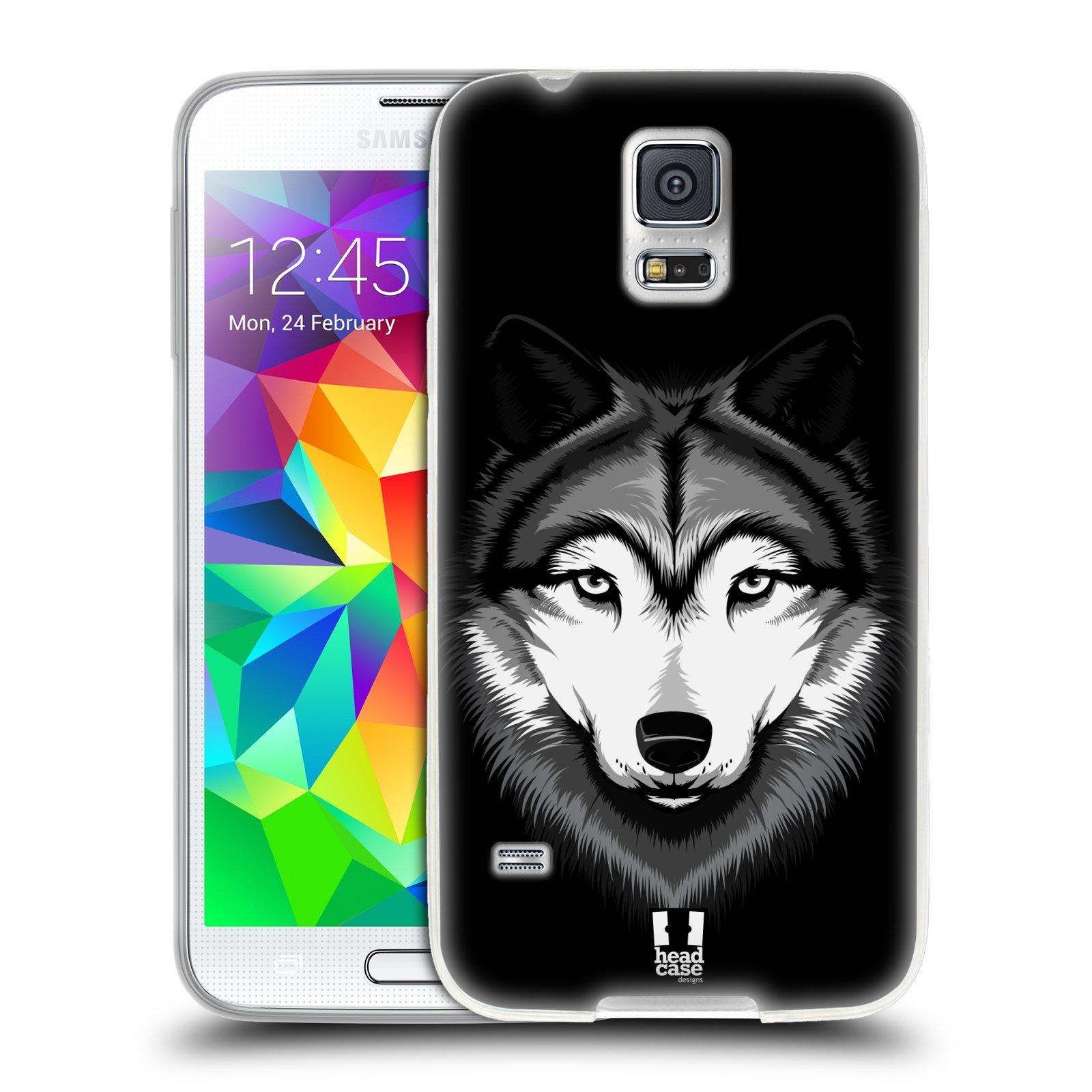 Silikonové pouzdro na mobil Samsung Galaxy S5 HEAD CASE ILUSTROVANÝ VLK