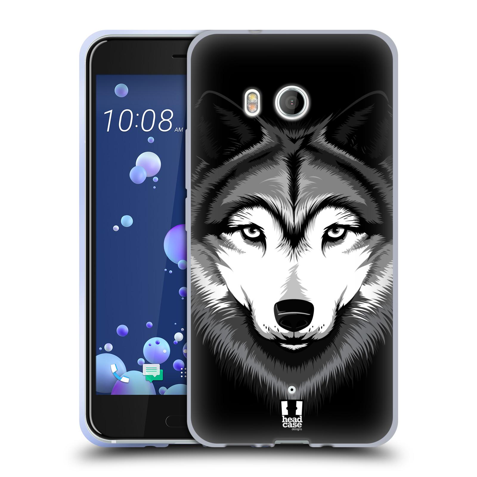 Silikonové pouzdro na mobil HTC U11 - Head Case - ILUSTROVANÝ VLK (Silikonový kryt či obal na mobilní telefon HTC U11 s motivem ILUSTROVANÝ VLK)