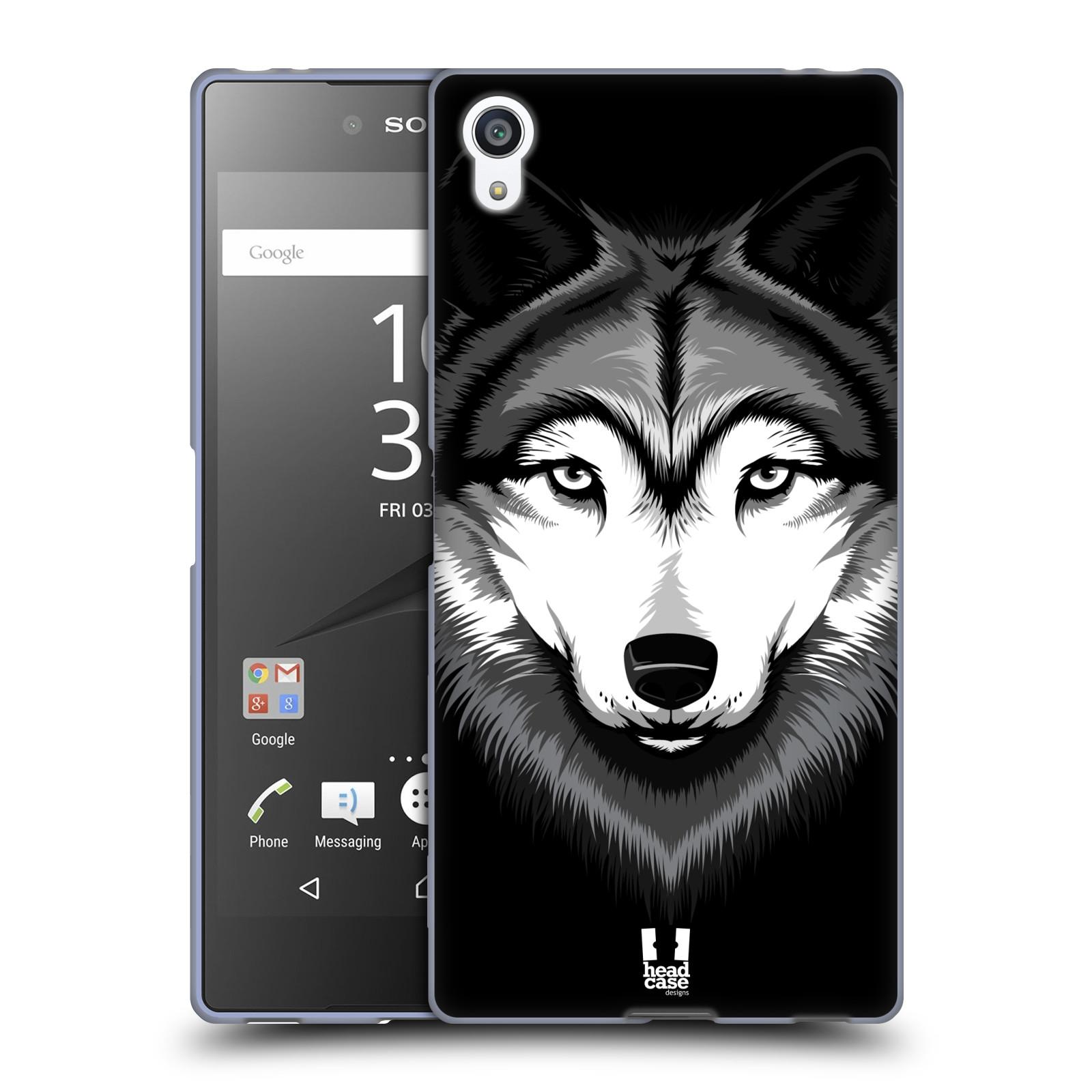 Silikonové pouzdro na mobil Sony Xperia Z5 Premium HEAD CASE ILUSTROVANÝ VLK