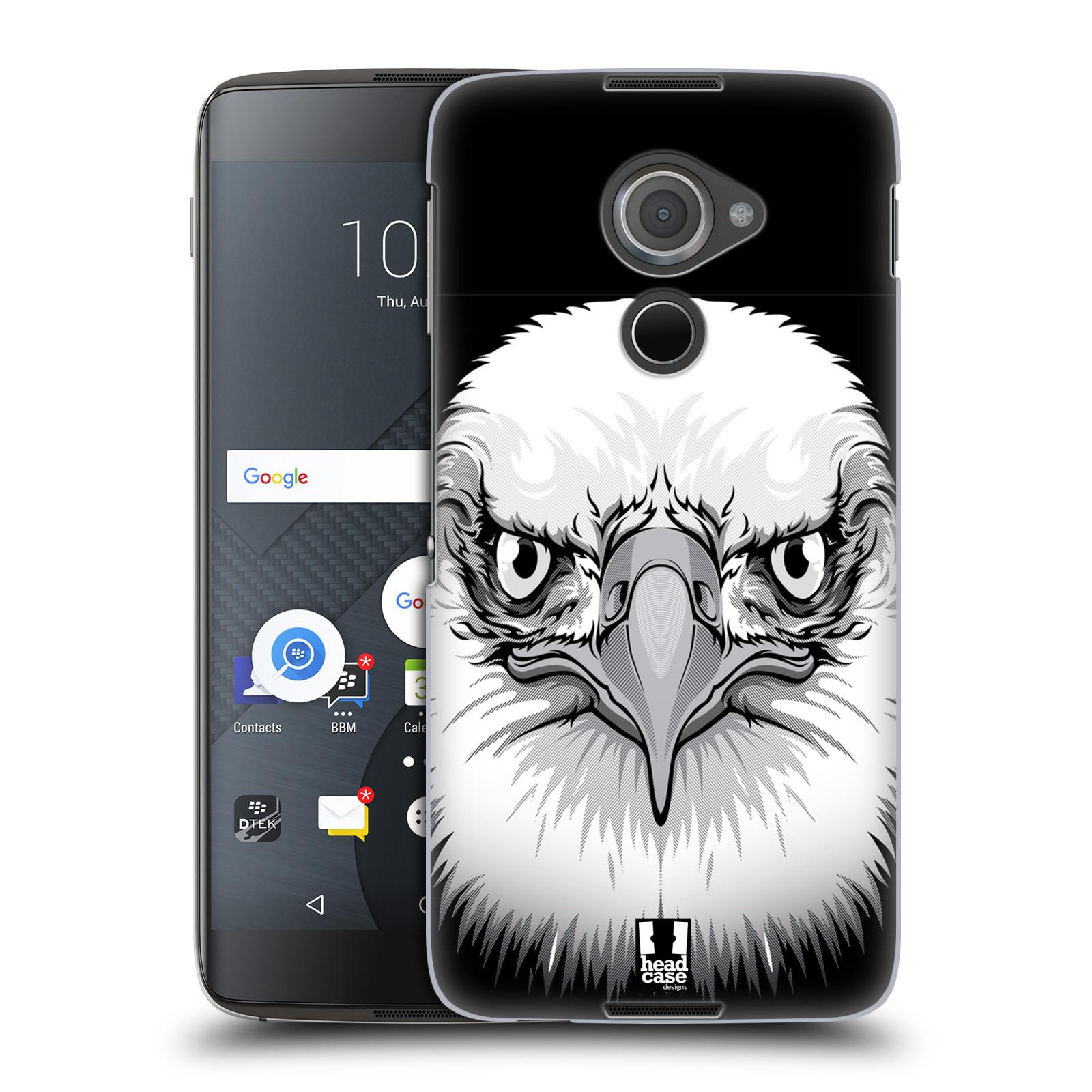 Plastové pouzdro na mobil Blackberry DTEK60 (Argon) - Head Case ILUSTROVANÝ OREL