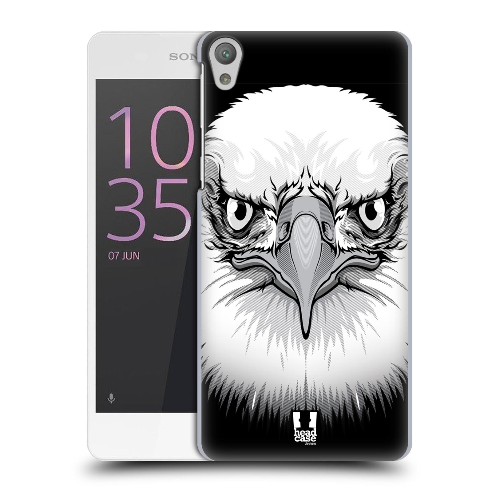 Plastové pouzdro na mobil Sony Xperia E5 HEAD CASE ILUSTROVANÝ OREL