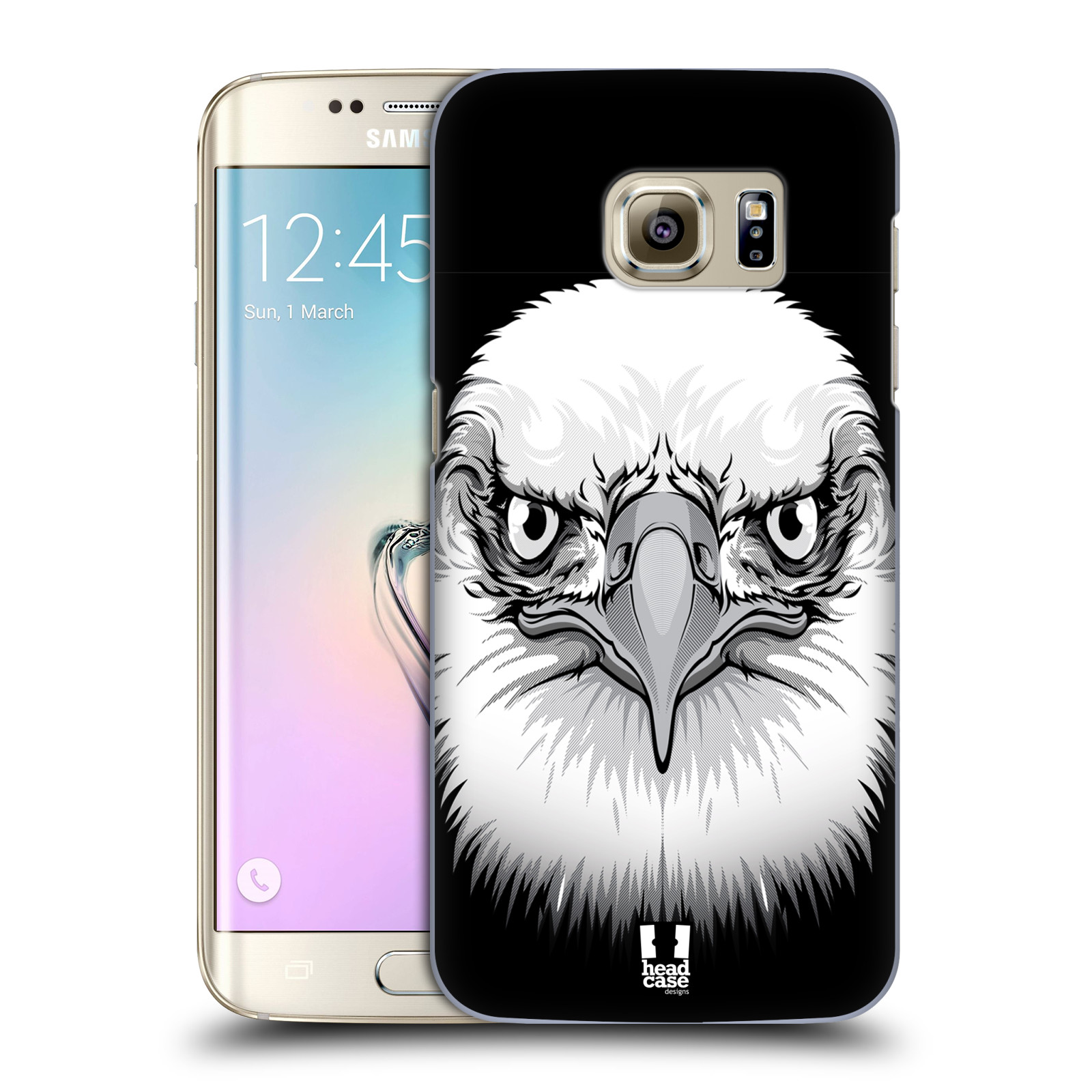Plastové pouzdro na mobil Samsung Galaxy S7 Edge HEAD CASE ILUSTROVANÝ OREL
