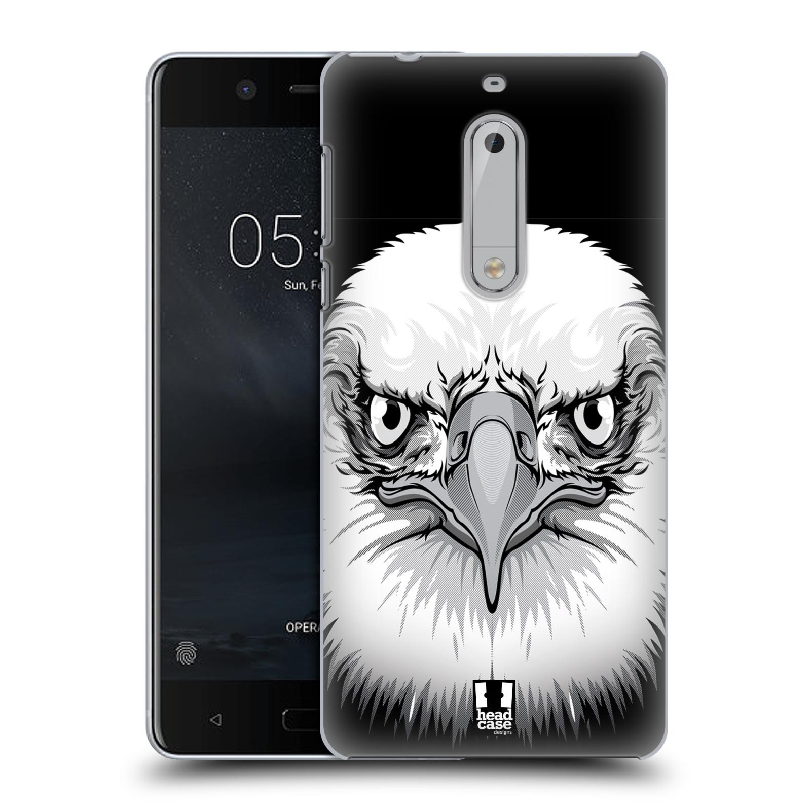 Plastové pouzdro na mobil Nokia 5 Head Case - ILUSTROVANÝ OREL