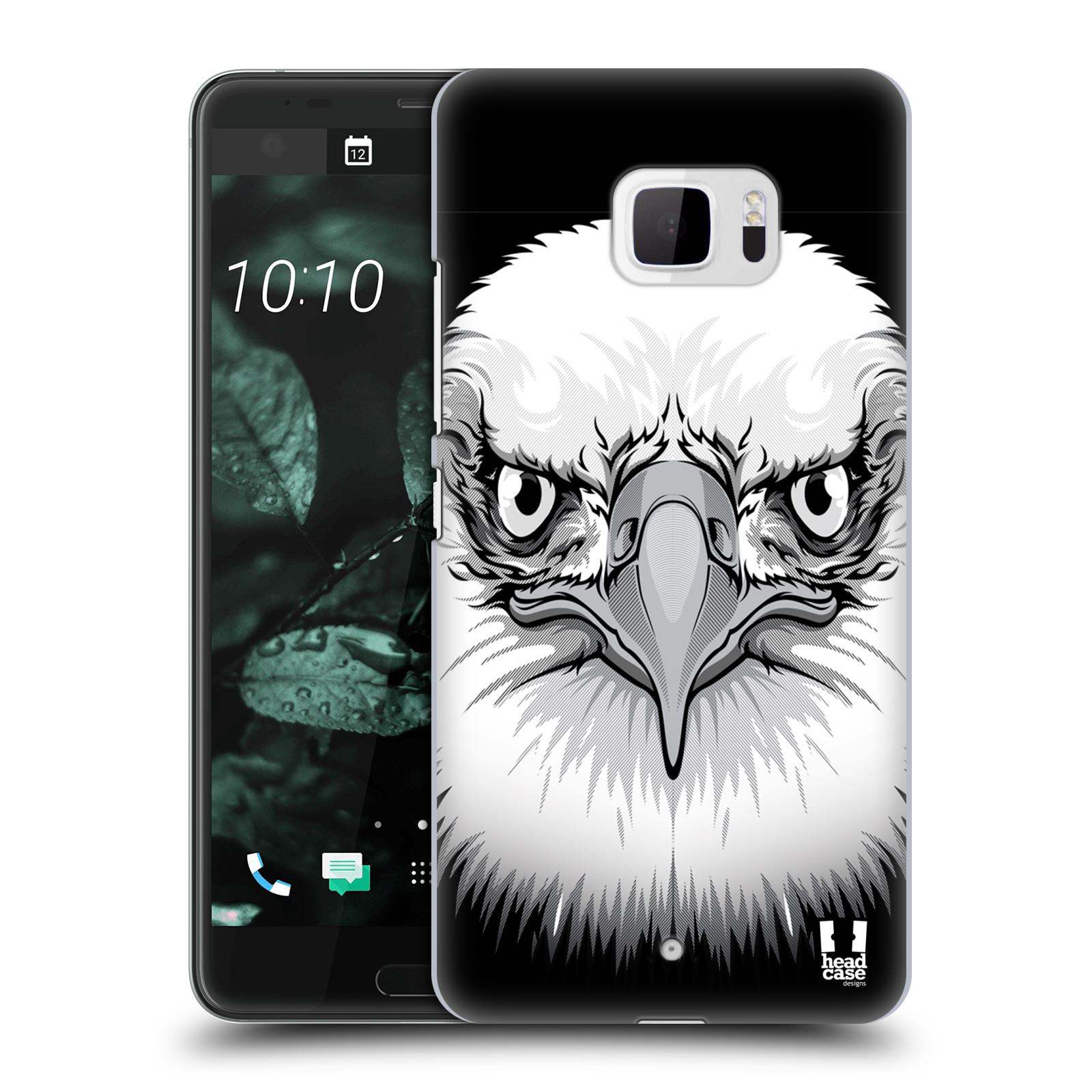 Plastové pouzdro na mobil HTC U Ultra Head Case - ILUSTROVANÝ OREL (Plastový kryt či obal na mobilní telefon HTC U Ultra (99HALT015-00))