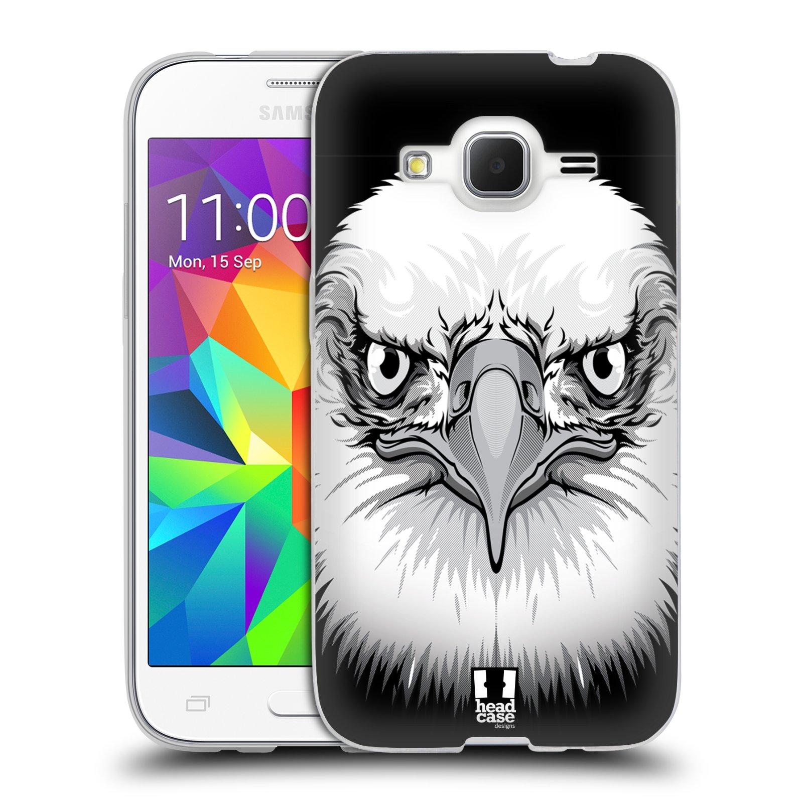 Silikonové pouzdro na mobil Samsung Galaxy Core Prime LTE HEAD CASE ILUSTROVANÝ OREL