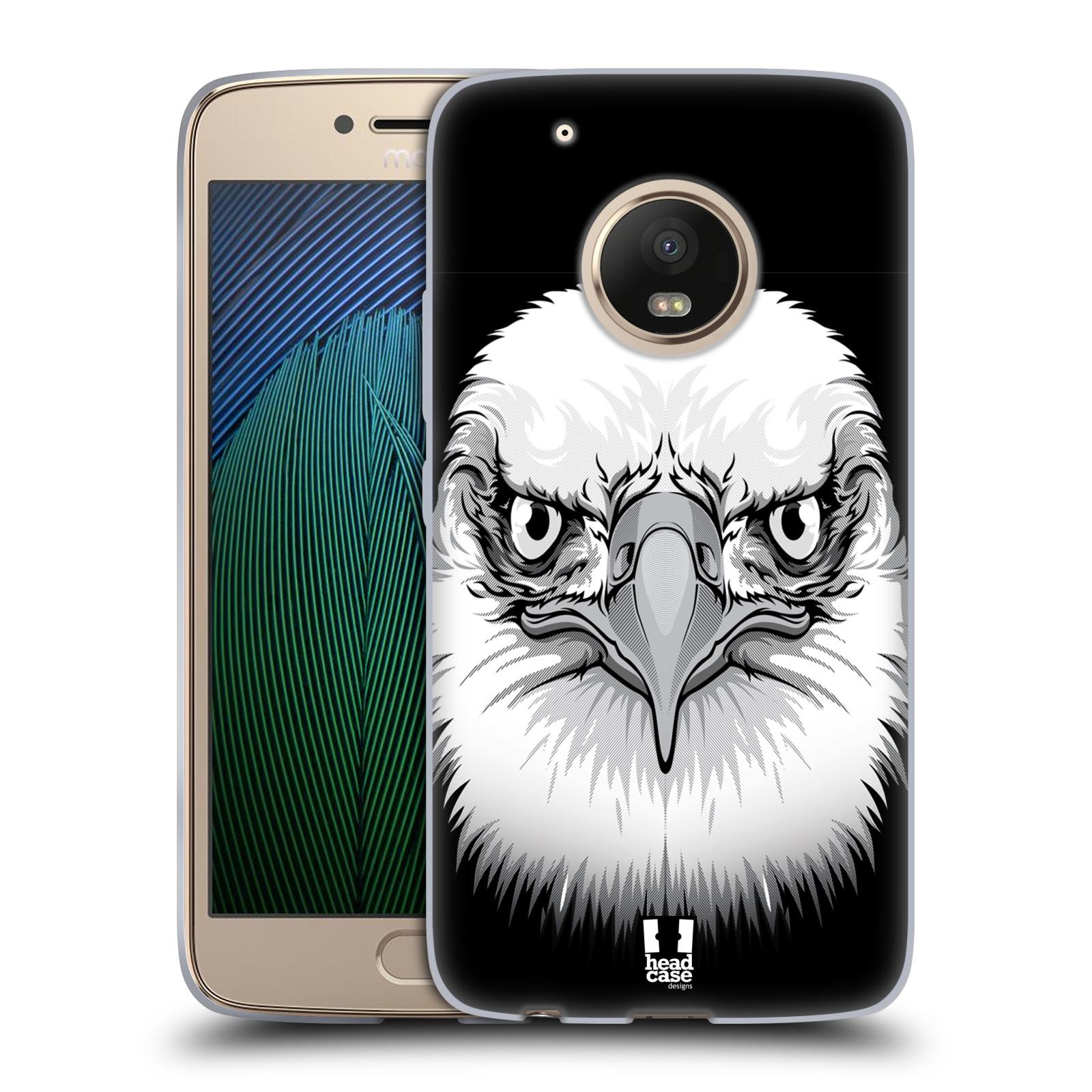 Silikonové pouzdro na mobil Lenovo Moto G5 Plus - Head Case ILUSTROVANÝ OREL