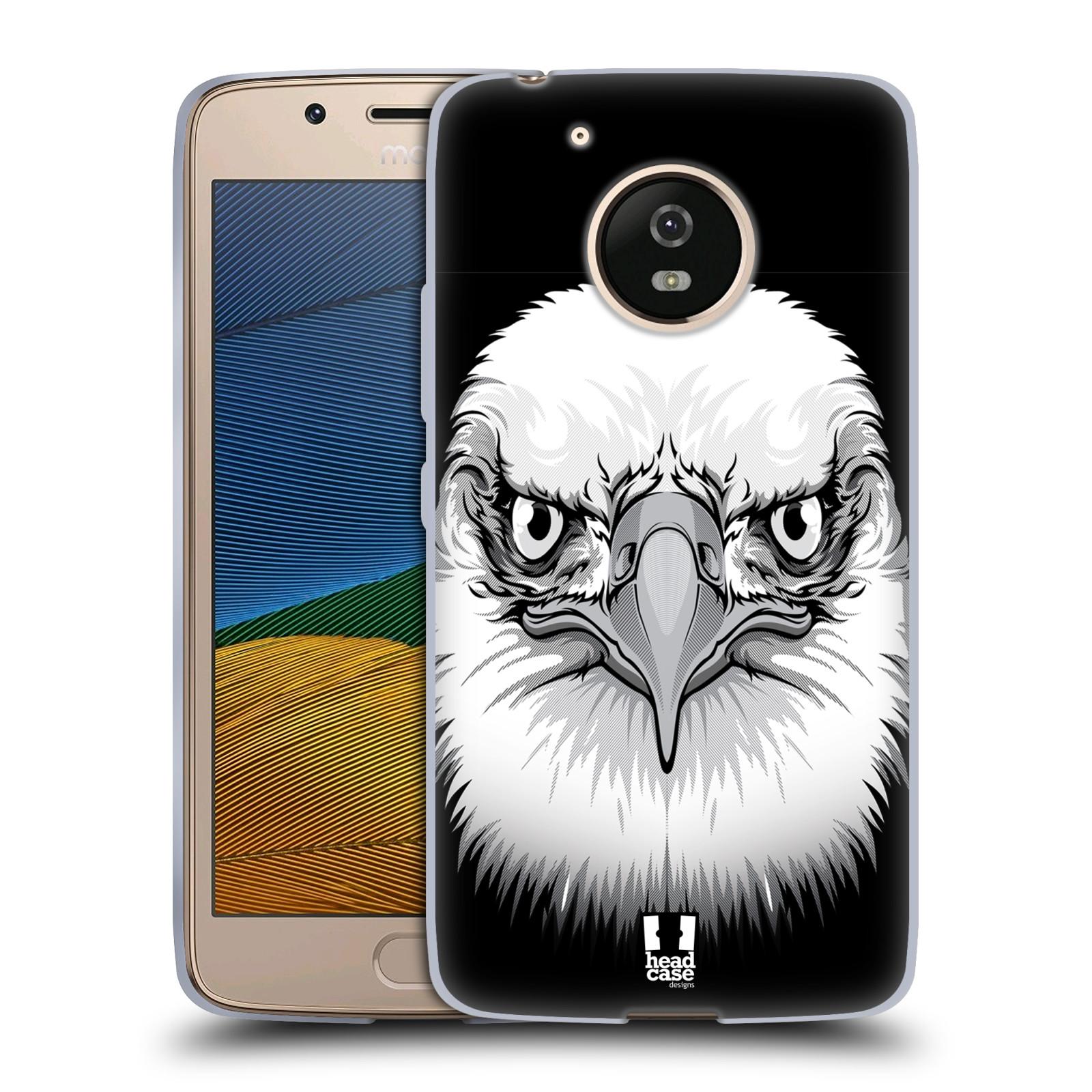 Silikonové pouzdro na mobil Lenovo Moto G5 - Head Case ILUSTROVANÝ OREL