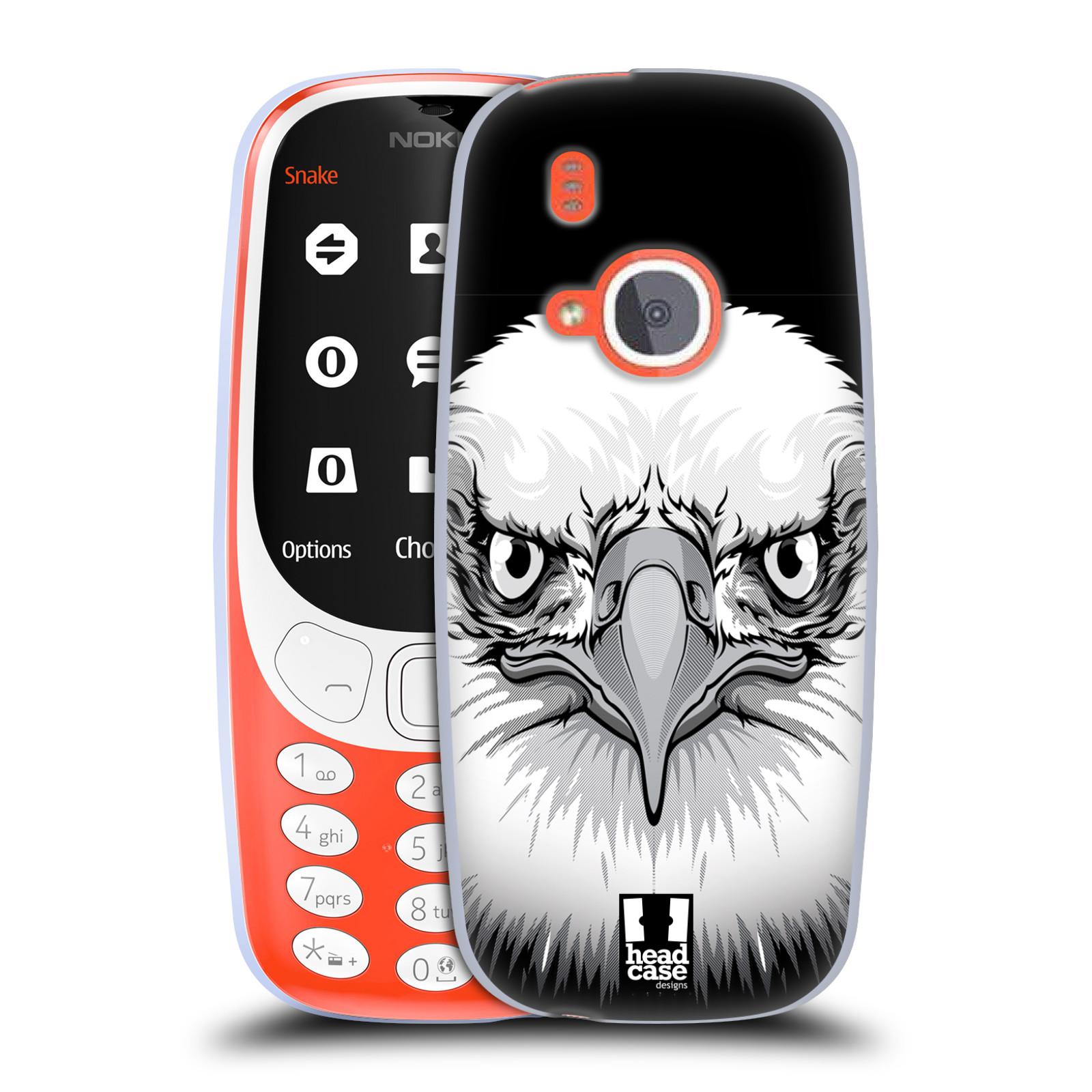 Silikonové pouzdro na mobil Nokia 3310 - Head Case - ILUSTROVANÝ OREL