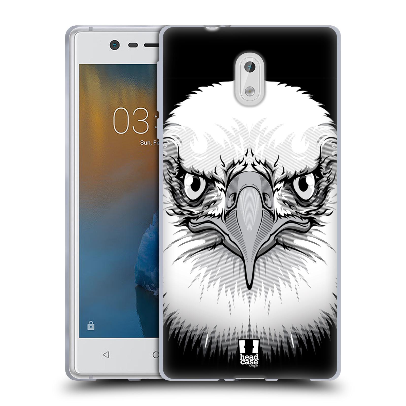 Silikonové pouzdro na mobil Nokia 3 Head Case - ILUSTROVANÝ OREL