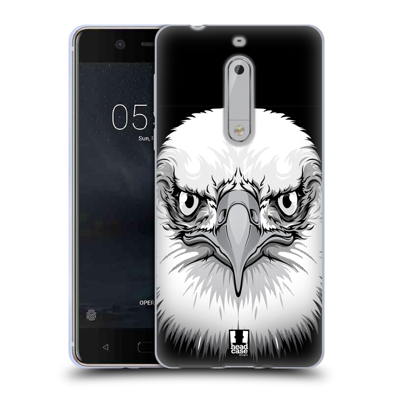 Silikonové pouzdro na mobil Nokia 5 Head Case - ILUSTROVANÝ OREL