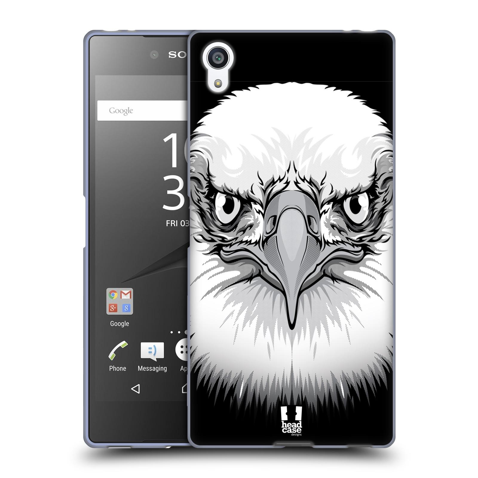 Silikonové pouzdro na mobil Sony Xperia Z5 Premium HEAD CASE ILUSTROVANÝ OREL