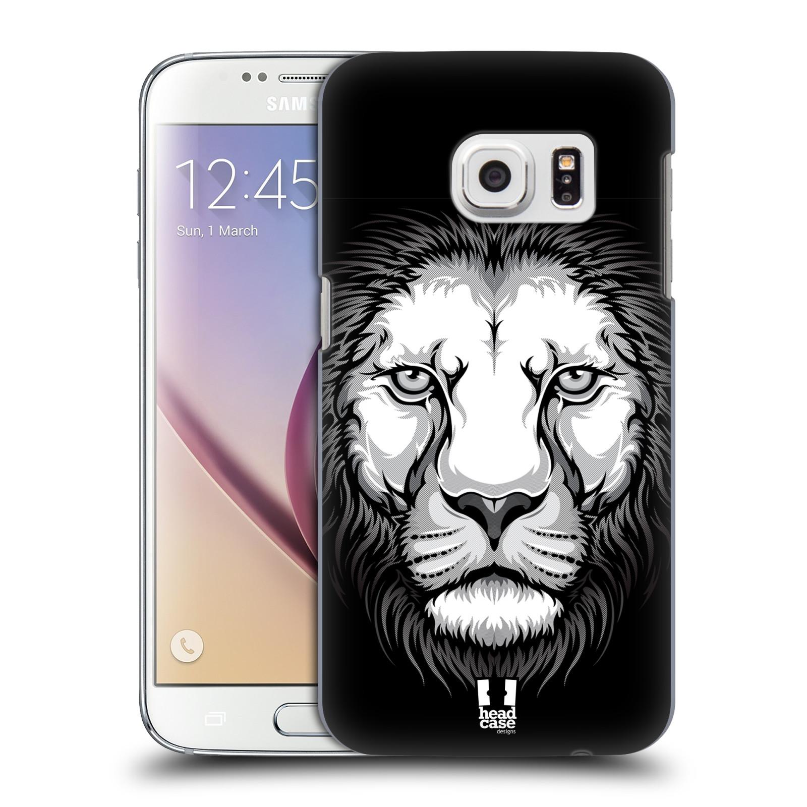 Plastové pouzdro na mobil Samsung Galaxy S7 HEAD CASE ILUSTROVANÝ LEV (Kryt či obal na mobilní telefon Samsung Galaxy S7 SM-G930F)
