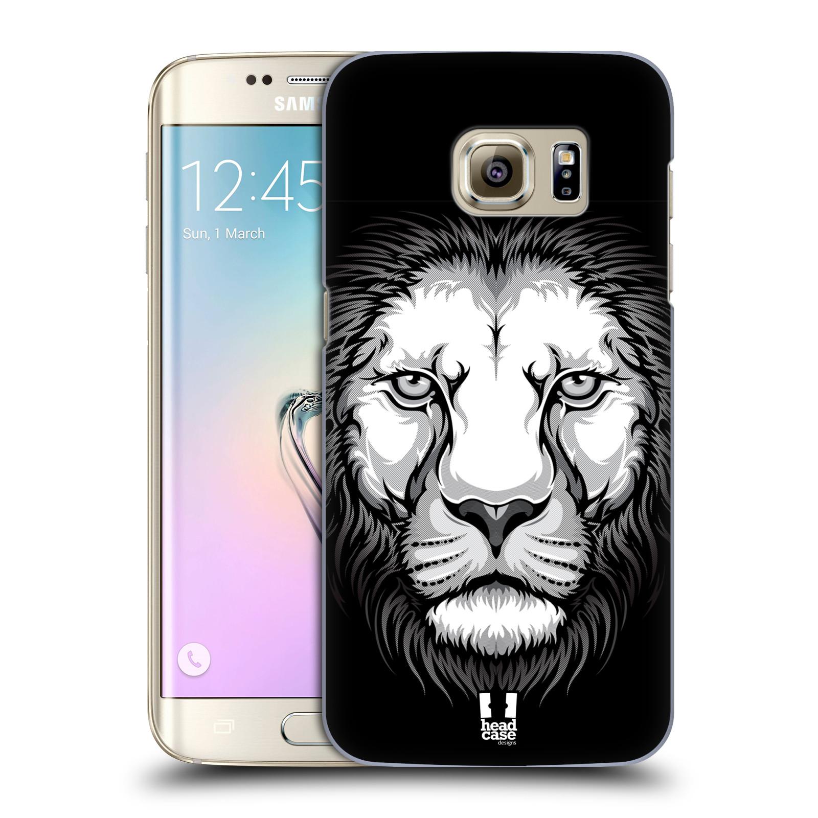 Plastové pouzdro na mobil Samsung Galaxy S7 Edge HEAD CASE ILUSTROVANÝ LEV