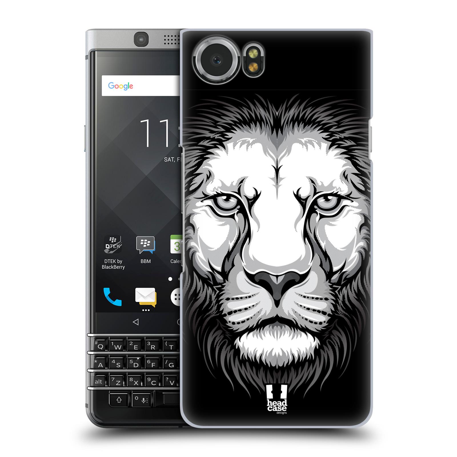Plastové pouzdro na mobil BlackBerry KEYone - Head Case - ILUSTROVANÝ LEV