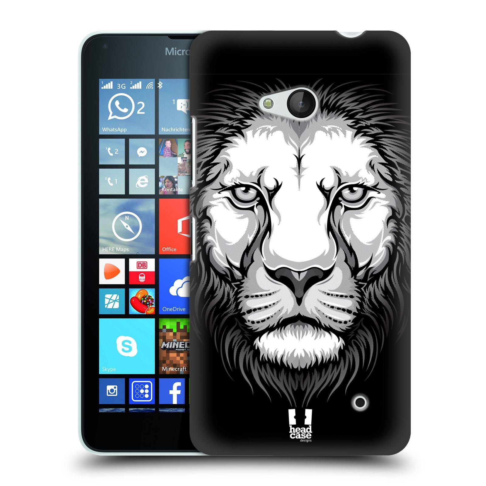 Plastové pouzdro na mobil Microsoft Lumia 640 HEAD CASE ILUSTROVANÝ LEV