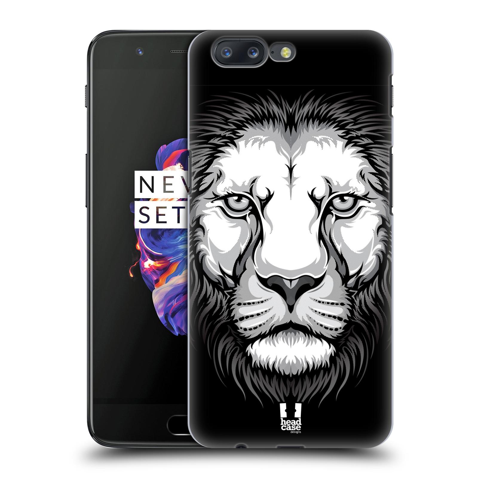 Plastové pouzdro na mobil OnePlus 5 - Head Case - ILUSTROVANÝ LEV
