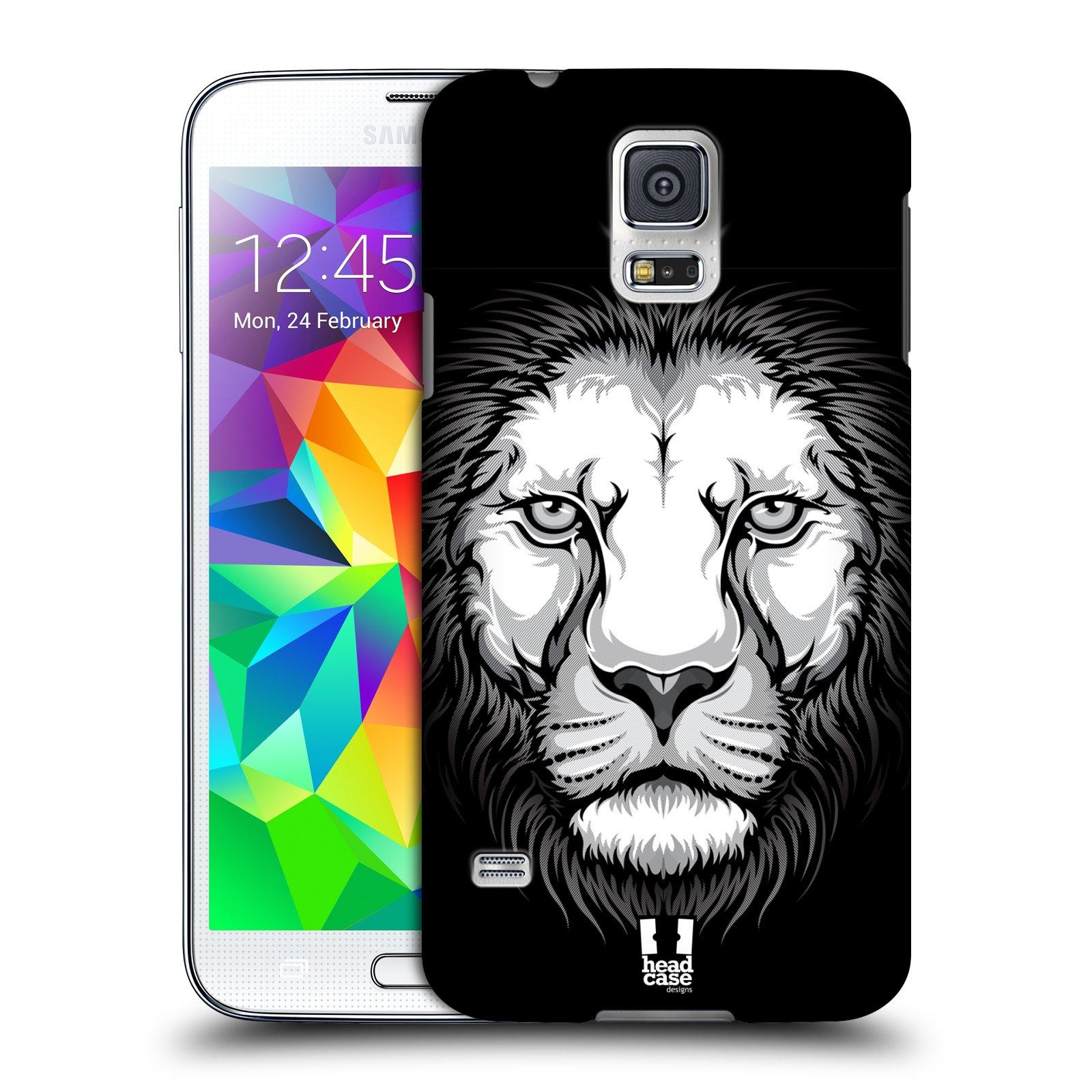 Plastové pouzdro na mobil Samsung Galaxy S5 HEAD CASE ILUSTROVANÝ LEV