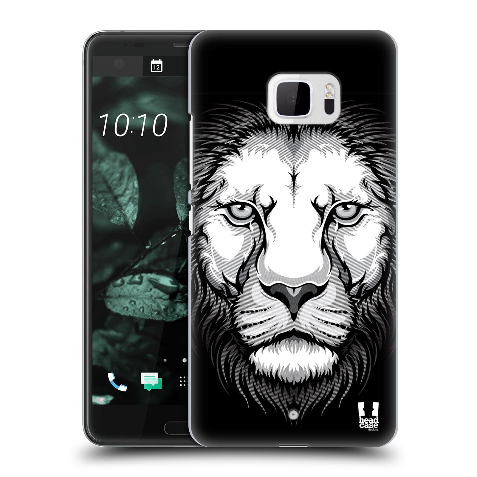 Plastové pouzdro na mobil HTC U Ultra Head Case - ILUSTROVANÝ LEV (Plastový kryt či obal na mobilní telefon HTC U Ultra (99HALT015-00))