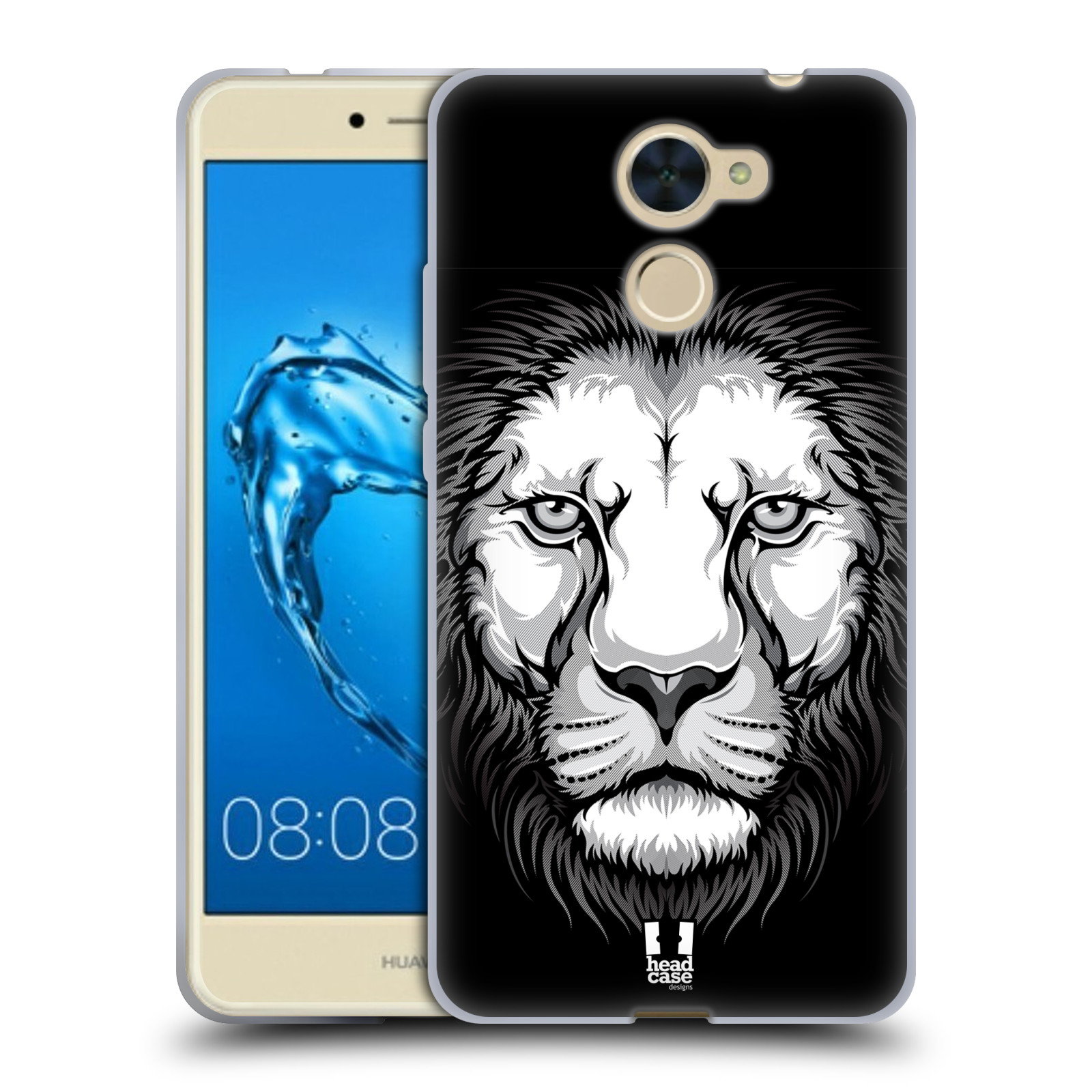 Silikonové pouzdro na mobil Huawei Y7 - Head Case - ILUSTROVANÝ LEV