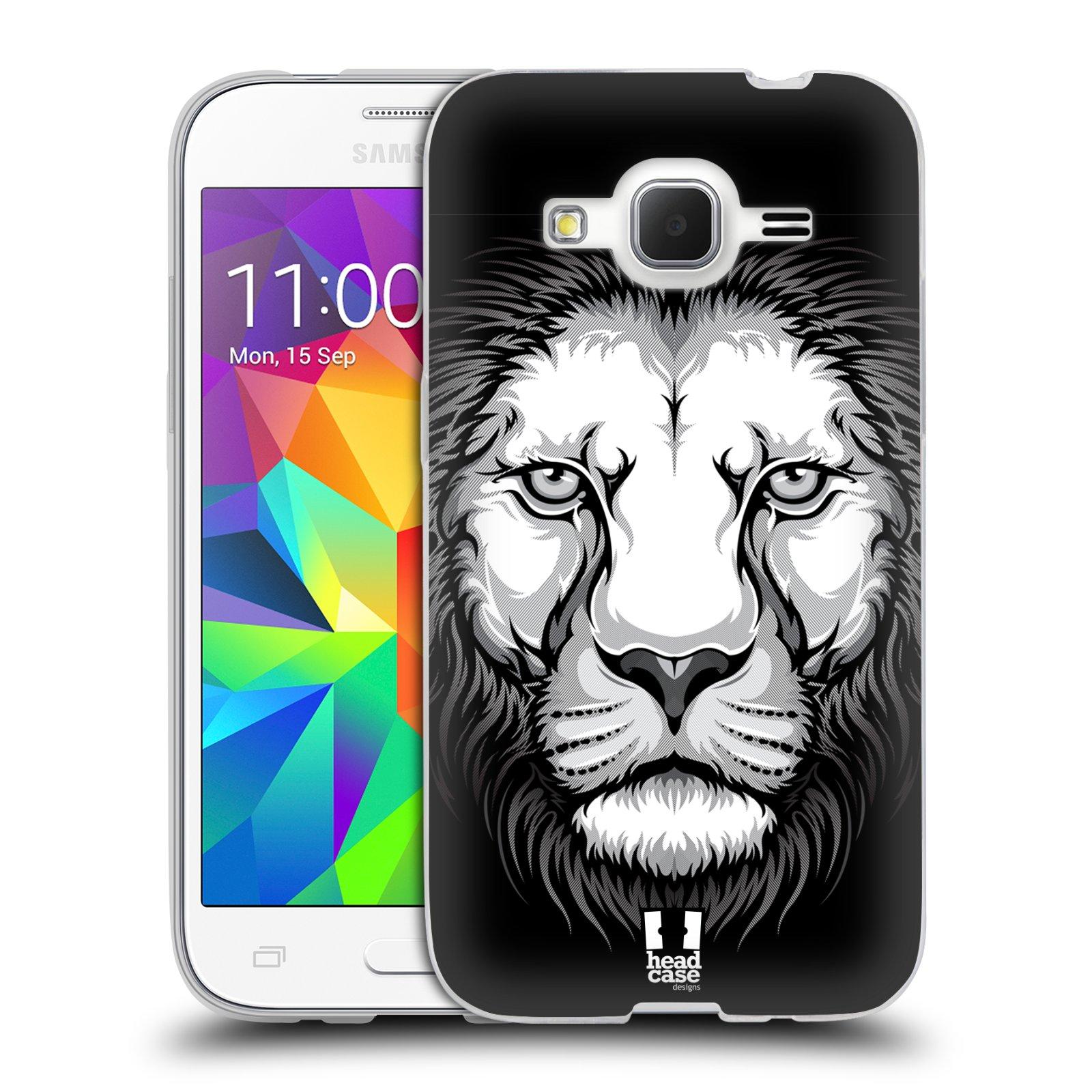 Silikonové pouzdro na mobil Samsung Galaxy Core Prime LTE HEAD CASE ILUSTROVANÝ LEV