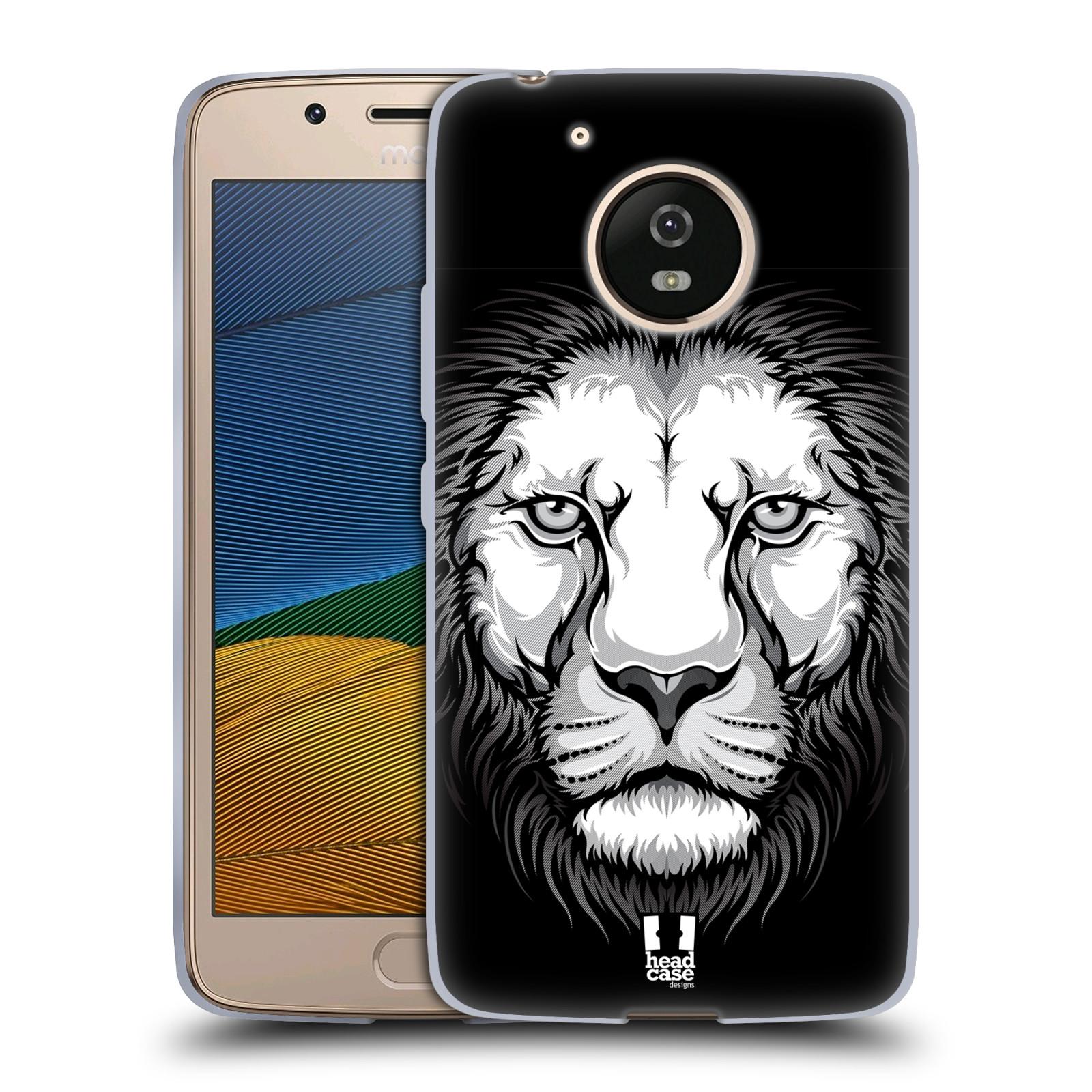 Silikonové pouzdro na mobil Lenovo Moto G5 - Head Case ILUSTROVANÝ LEV