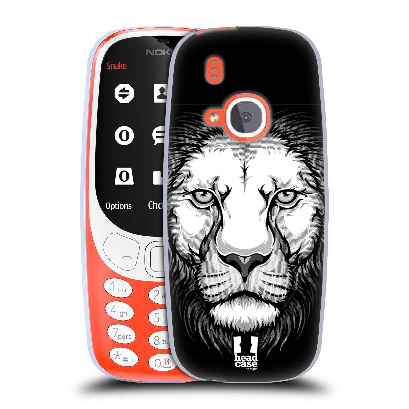 Silikonové pouzdro na mobil Nokia 3310 - Head Case - ILUSTROVANÝ LEV
