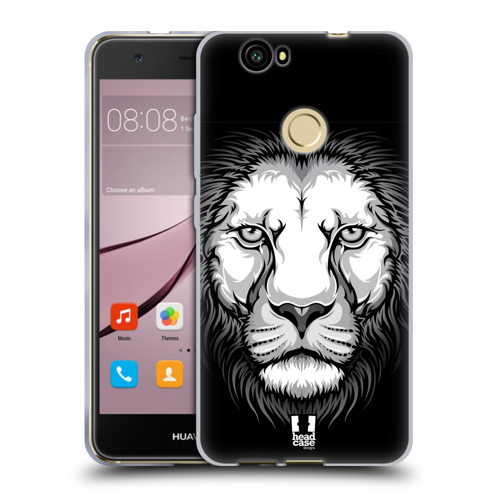Silikonové pouzdro na mobil Huawei Nova - Head Case - ILUSTROVANÝ LEV
