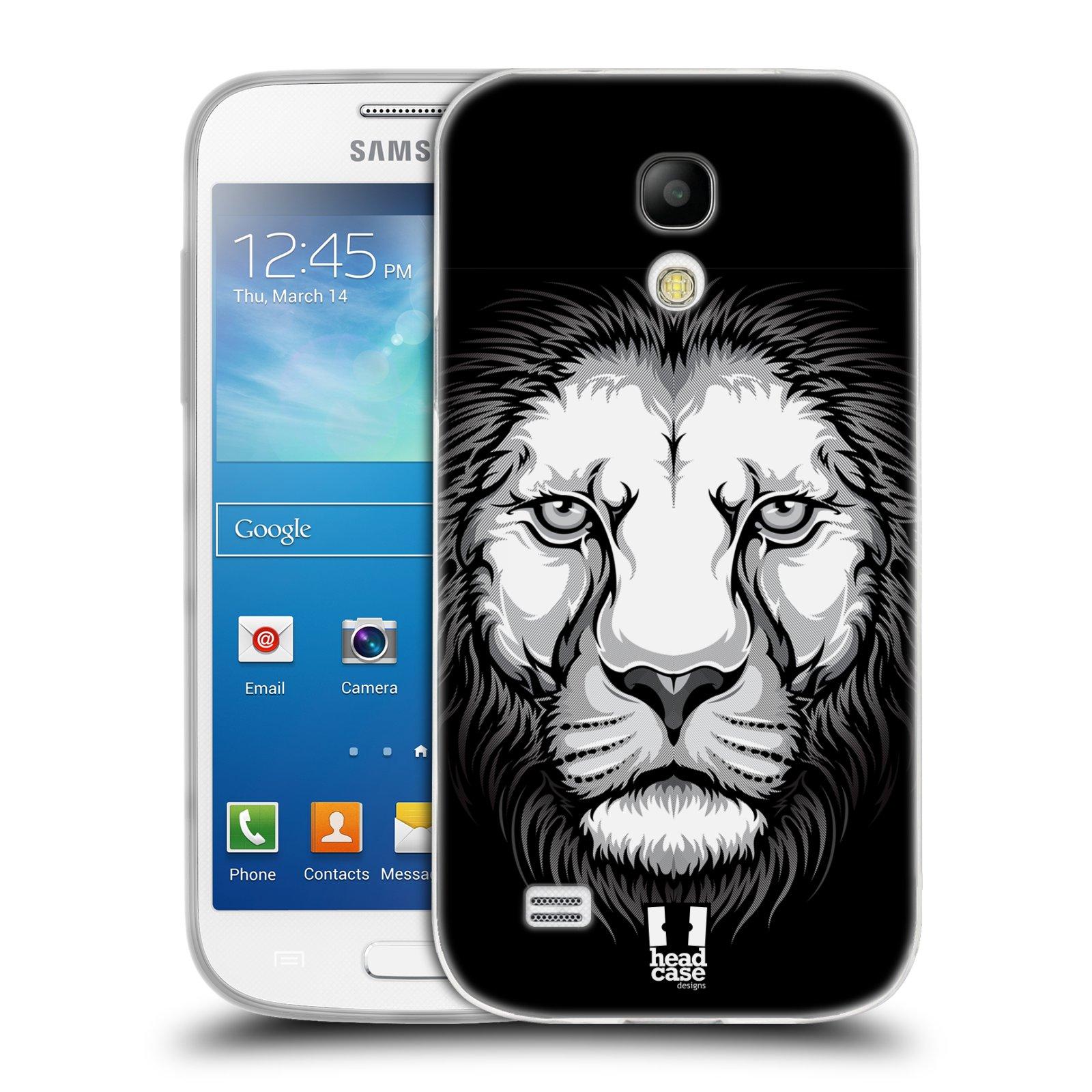 Silikonové pouzdro na mobil Samsung Galaxy S4 Mini HEAD CASE ILUSTROVANÝ LEV