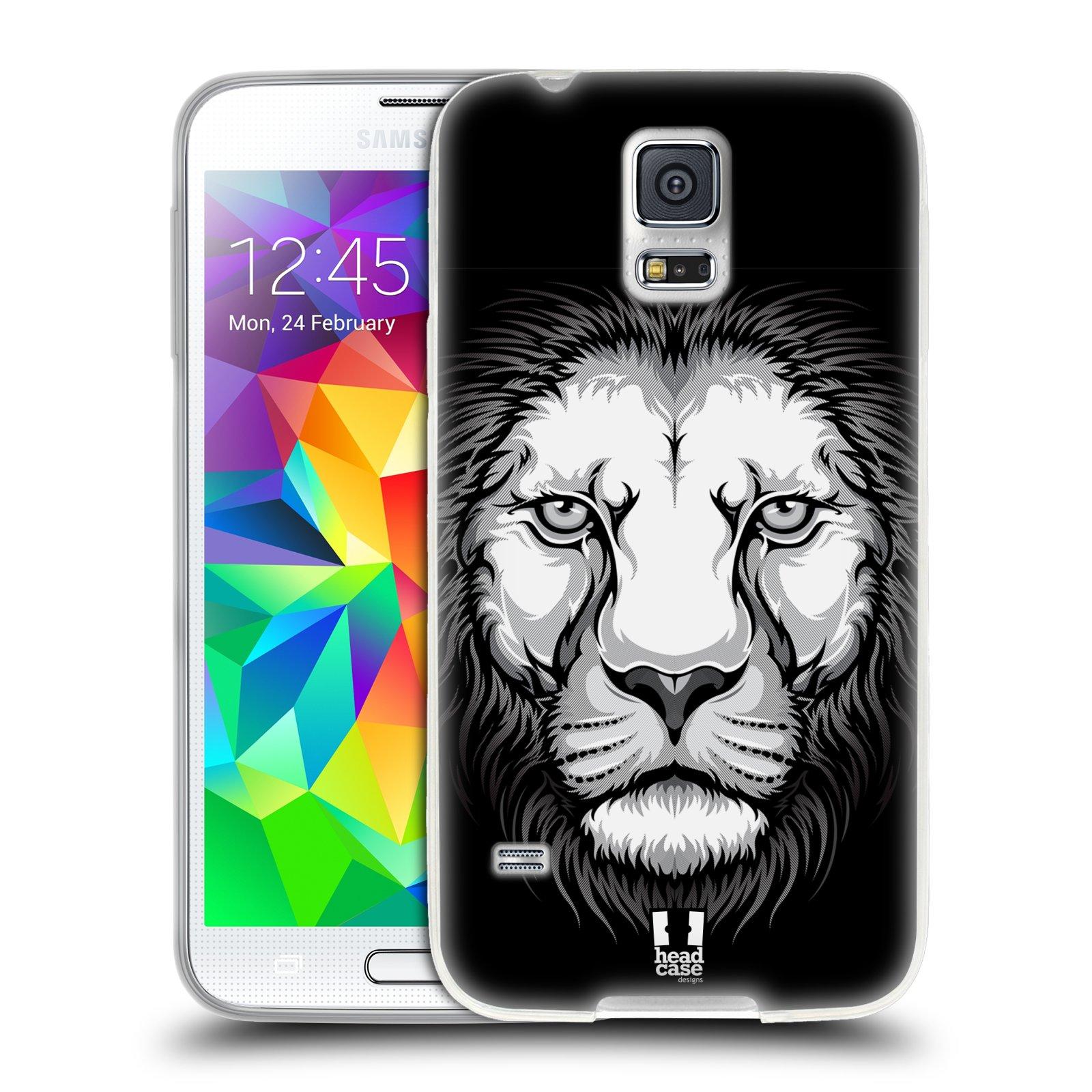 Silikonové pouzdro na mobil Samsung Galaxy S5 HEAD CASE ILUSTROVANÝ LEV