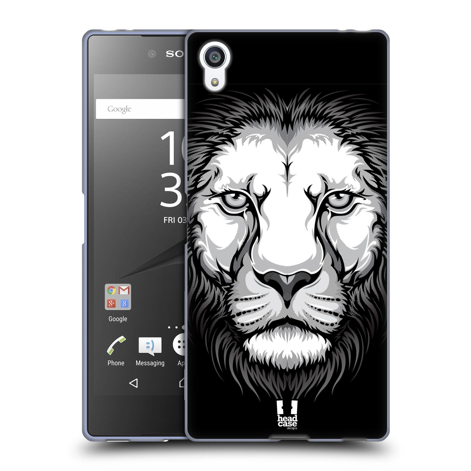 Silikonové pouzdro na mobil Sony Xperia Z5 Premium HEAD CASE ILUSTROVANÝ LEV
