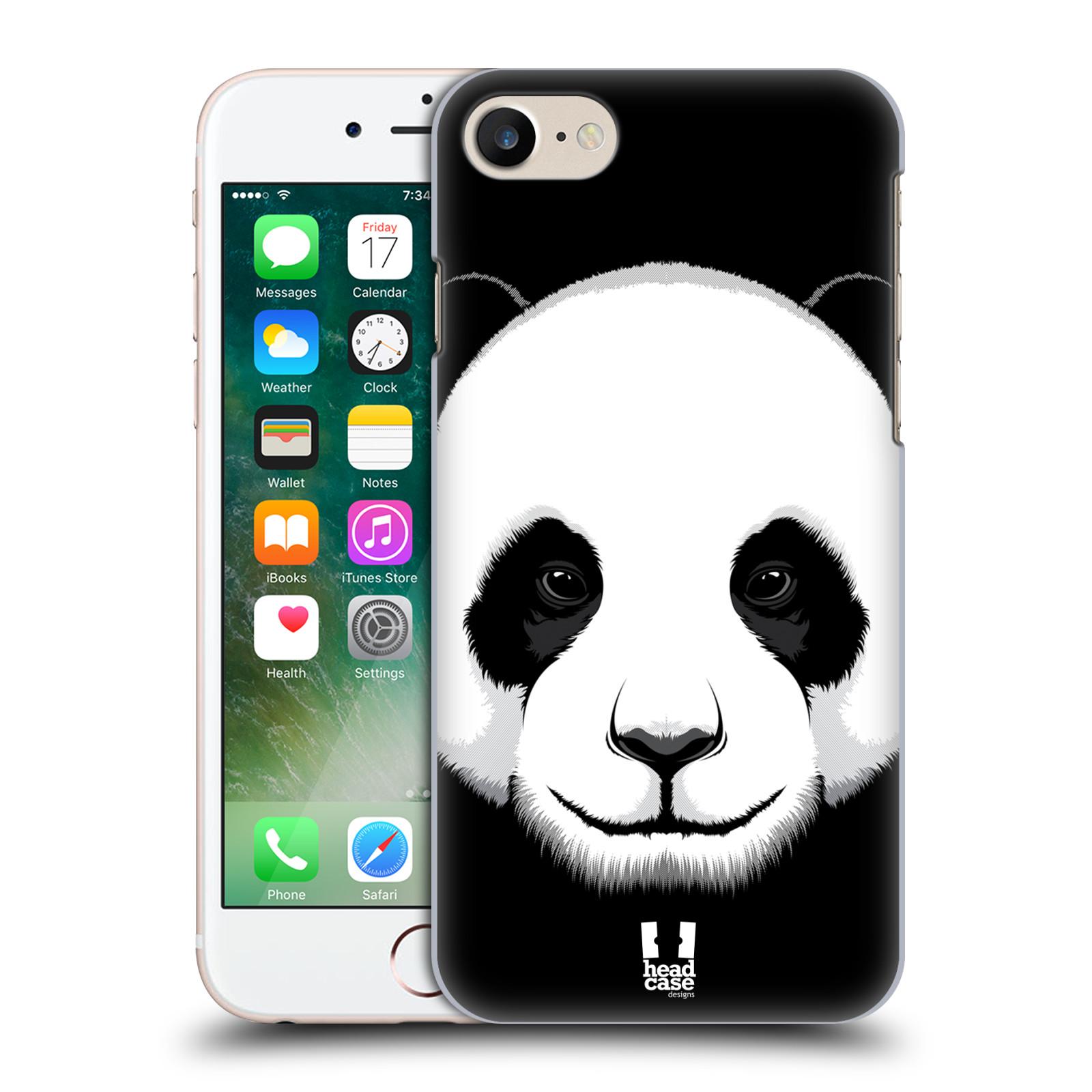 Plastové pouzdro na mobil Apple iPhone 7 HEAD CASE ILUSTROVANÁ PANDA