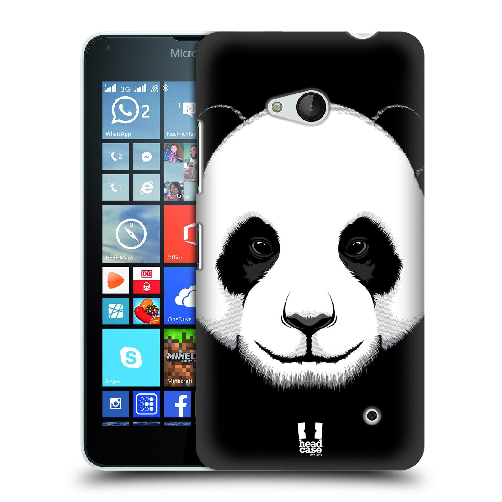 Plastové pouzdro na mobil Microsoft Lumia 640 HEAD CASE ILUSTROVANÁ PANDA