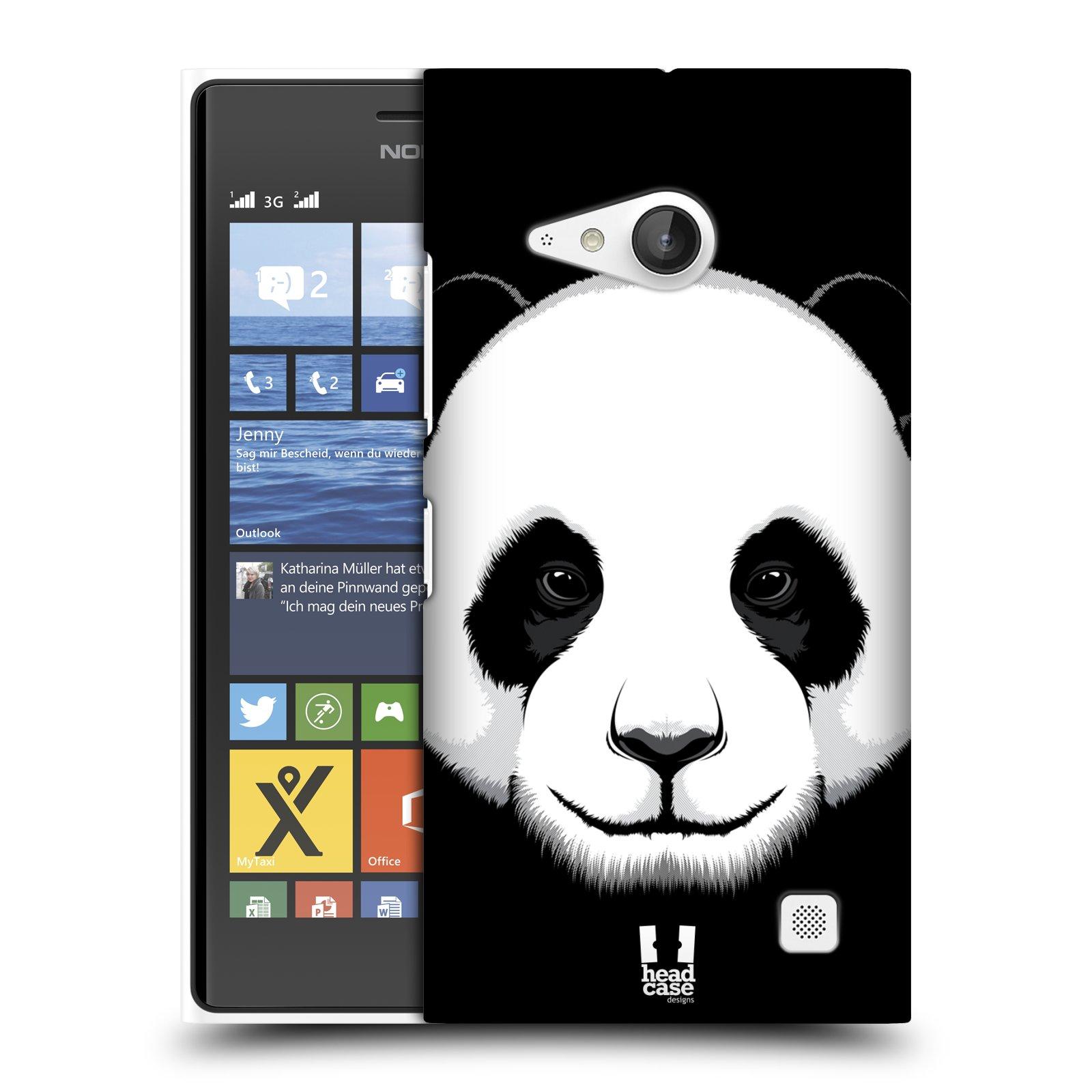 Plastové pouzdro na mobil Nokia Lumia 735 HEAD CASE ILUSTROVANÁ PANDA