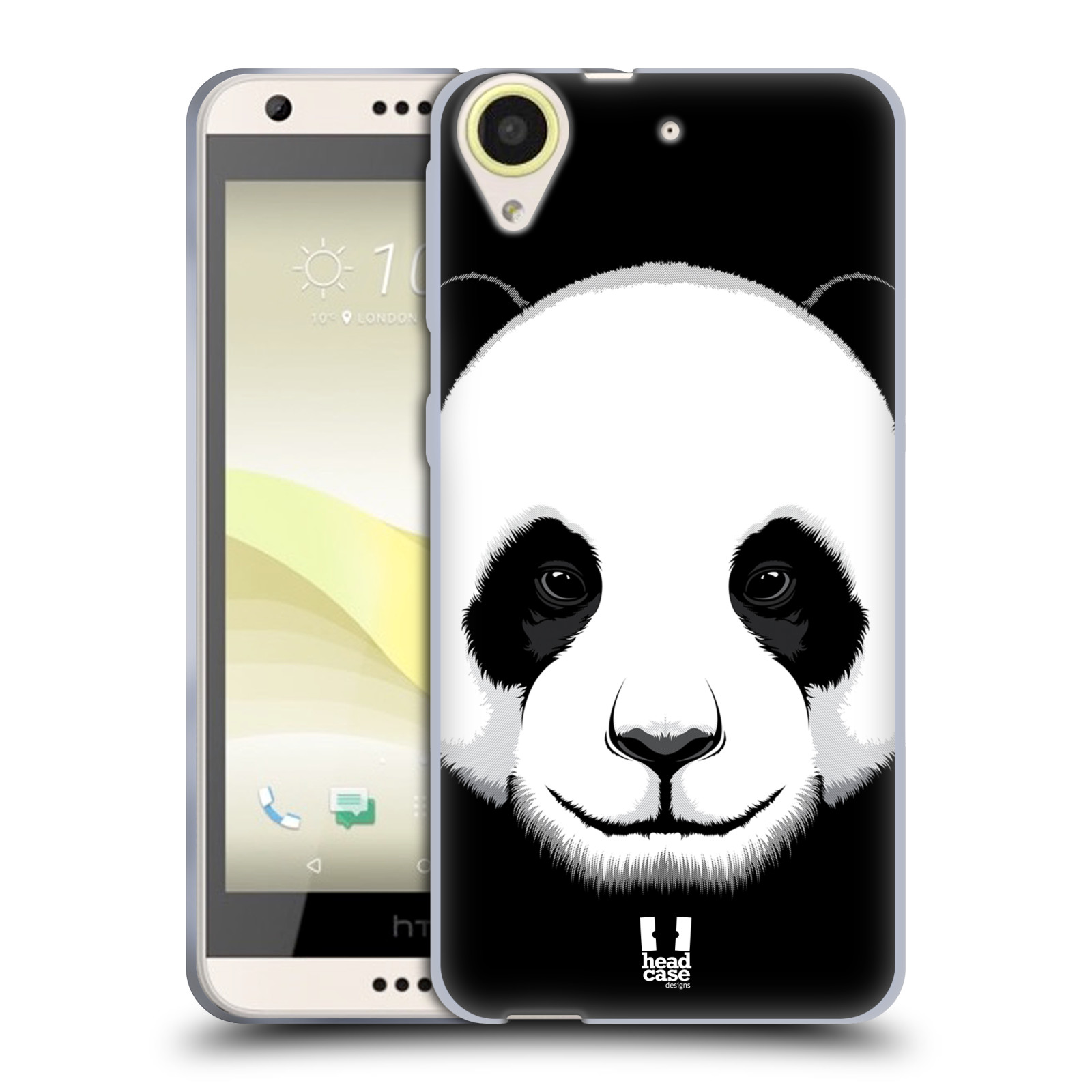 Silikonové pouzdro na mobil HTC Desire 650 HEAD CASE ILUSTROVANÁ PANDA