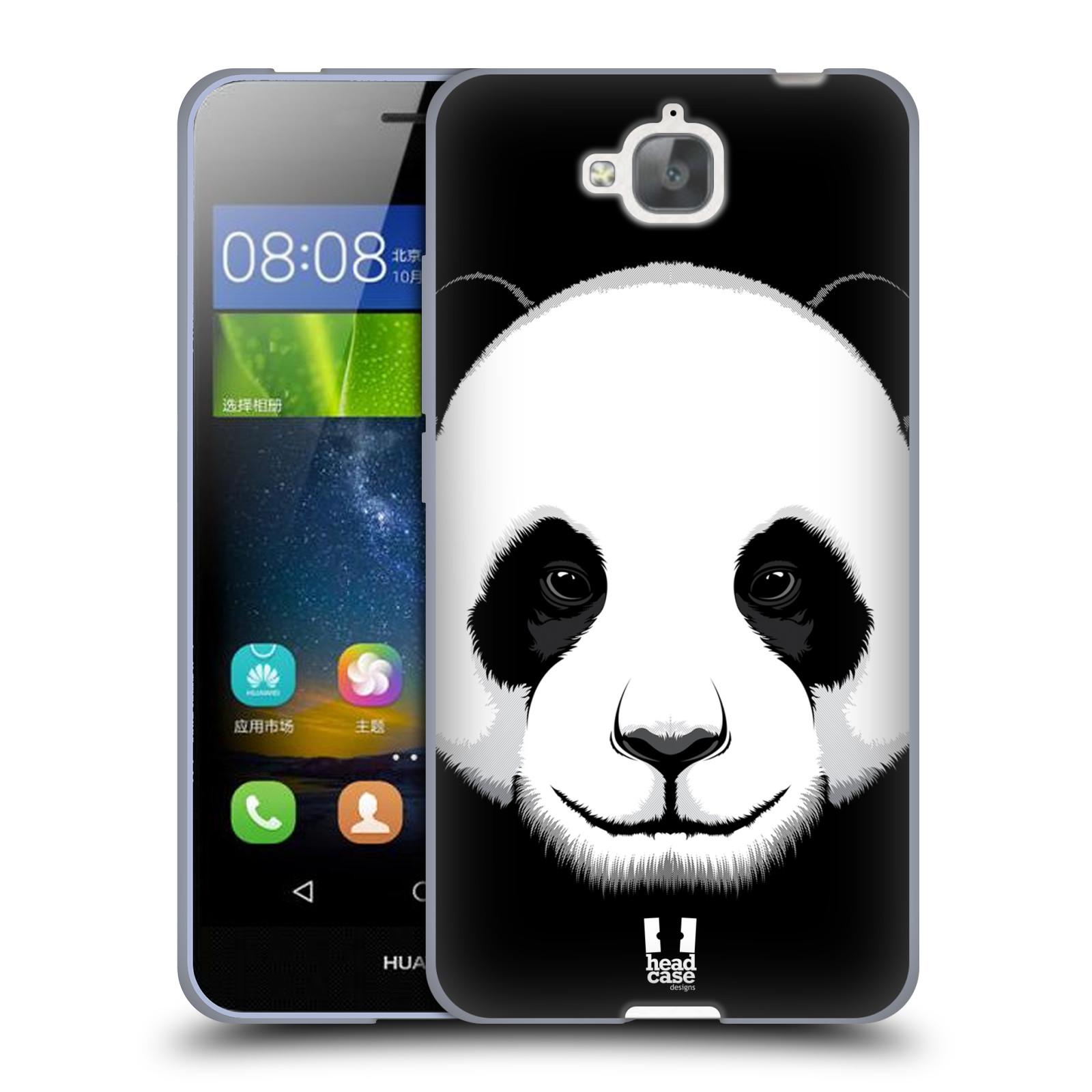 Silikonové pouzdro na mobil Huawei Y6 Pro Dual Sim HEAD CASE ILUSTROVANÁ PANDA
