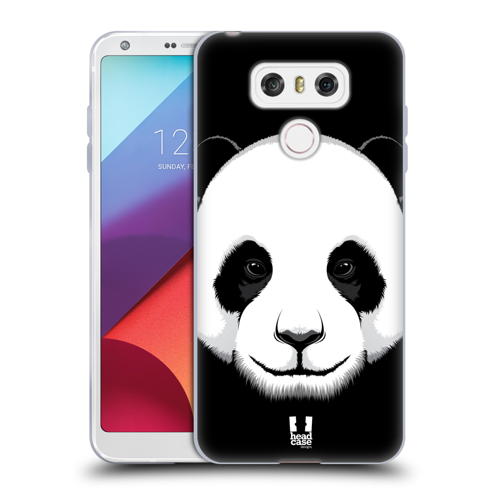 Silikonové pouzdro na mobil LG G6 - Head Case ILUSTROVANÁ PANDA