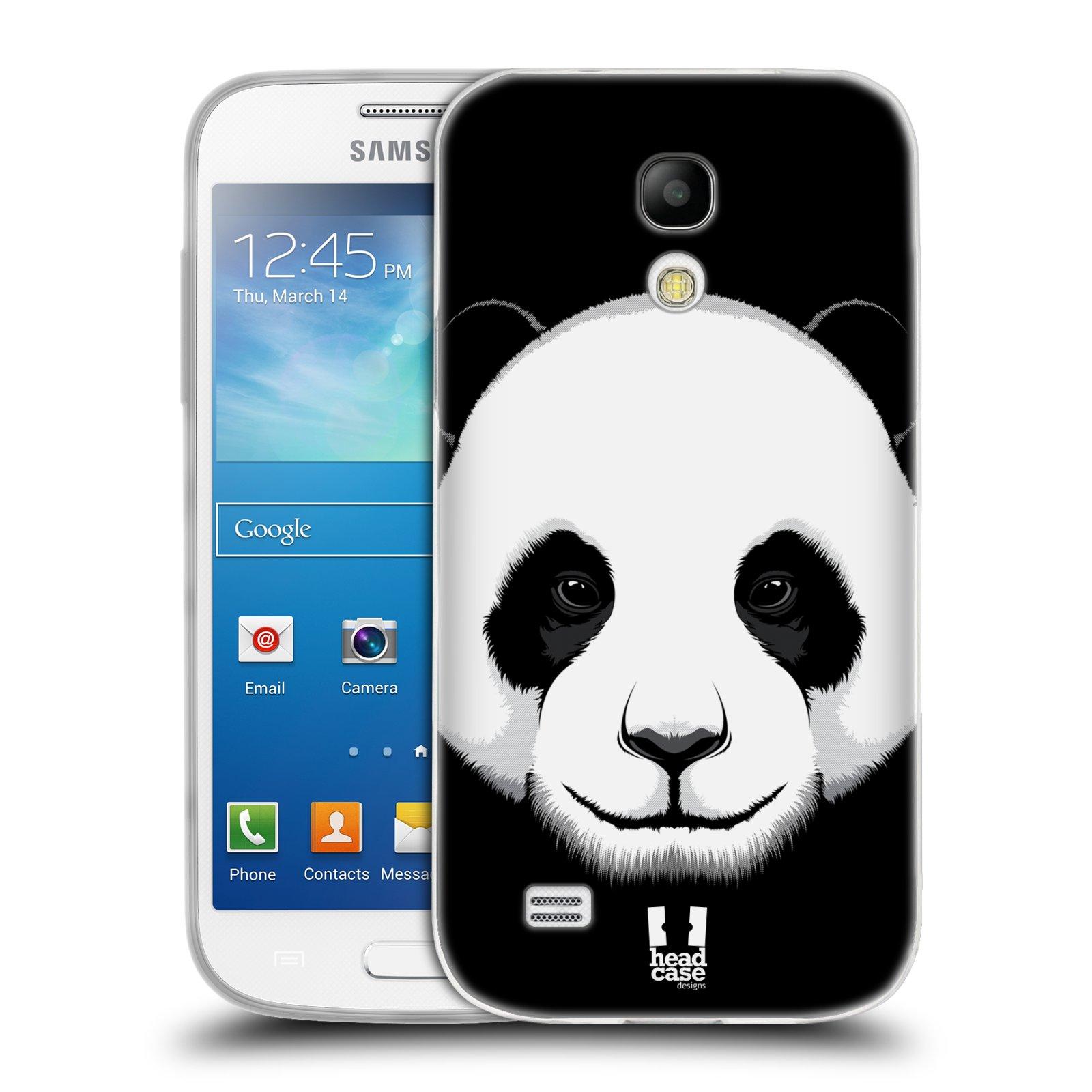 Silikonové pouzdro na mobil Samsung Galaxy S4 Mini HEAD CASE ILUSTROVANÁ PANDA