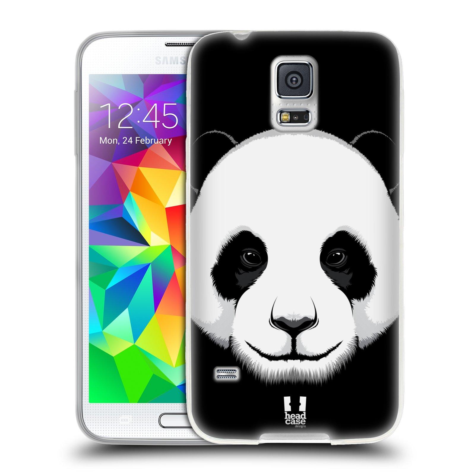 Silikonové pouzdro na mobil Samsung Galaxy S5 HEAD CASE ILUSTROVANÁ PANDA