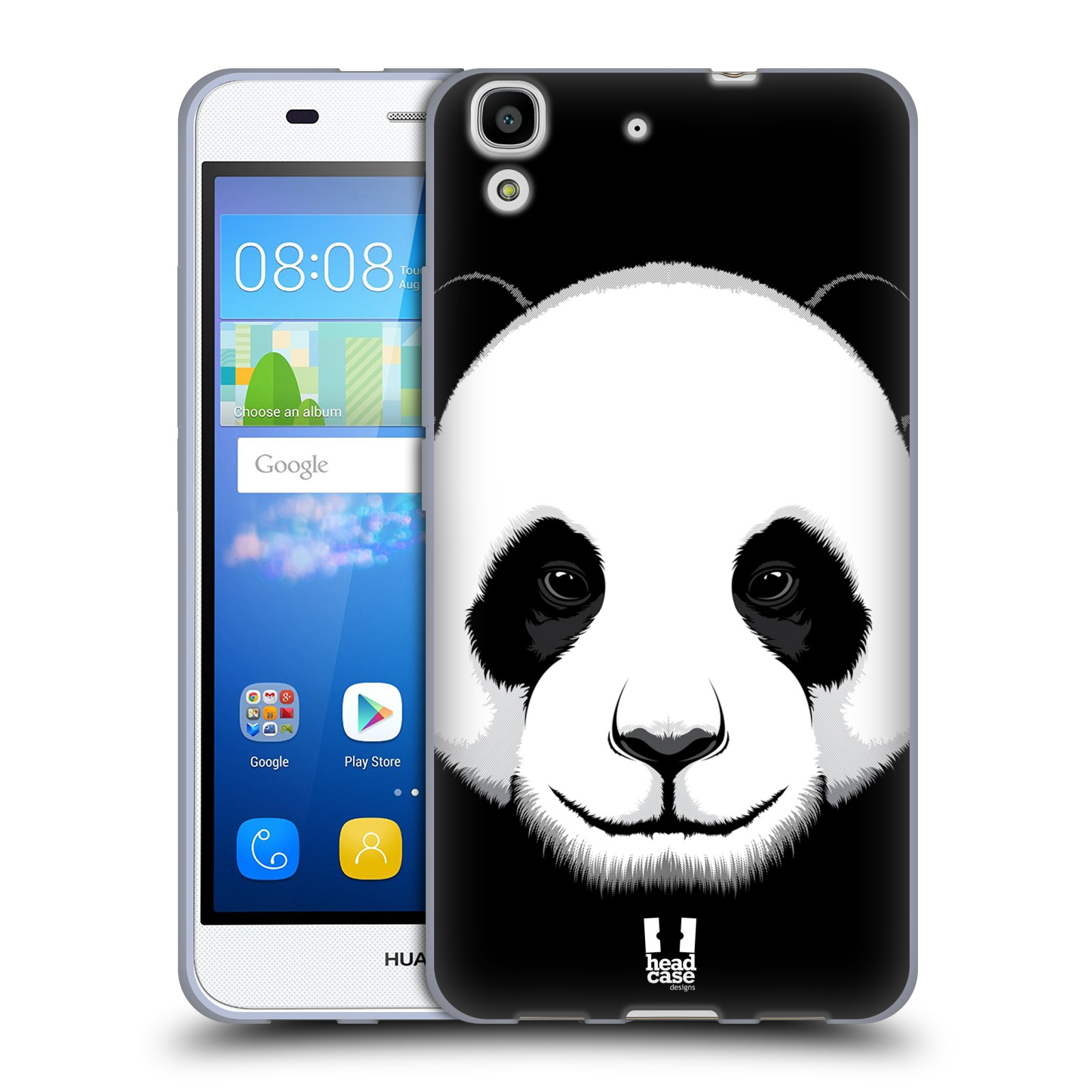 Silikonové pouzdro na mobil Huawei Y6 HEAD CASE ILUSTROVANÁ PANDA