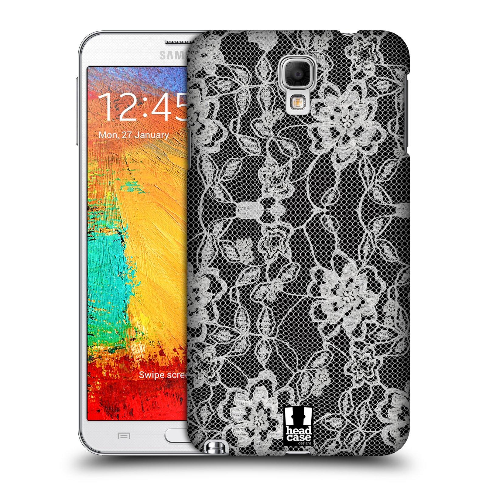 Plastové pouzdro na mobil Samsung Galaxy Note 3 Neo HEAD CASE FLOWERY KRAJKA (Kryt či obal na mobilní telefon Samsung Galaxy Note 3 Neo SM-N7505)
