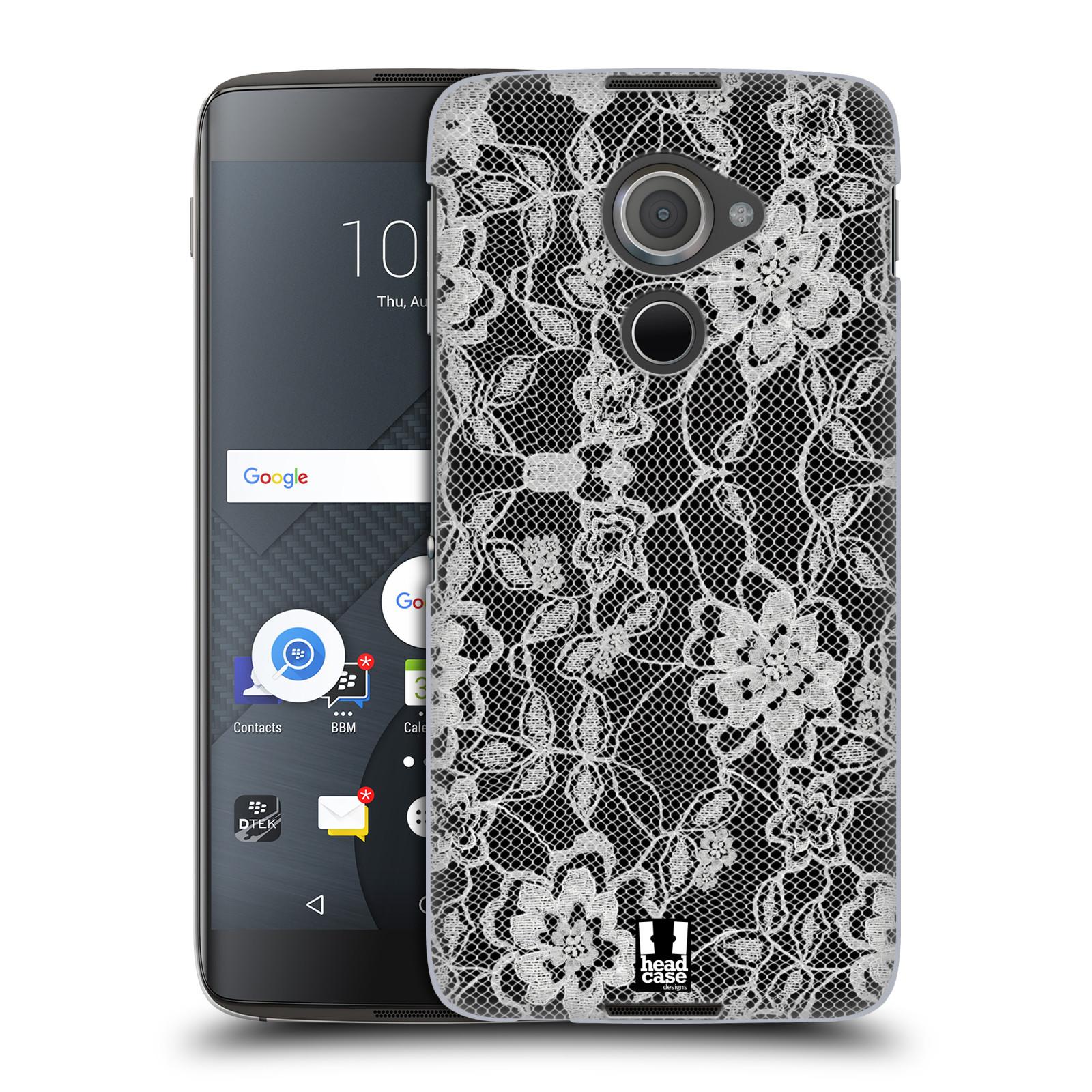 Plastové pouzdro na mobil Blackberry DTEK60 (Argon) - Head Case FLOWERY KRAJKA